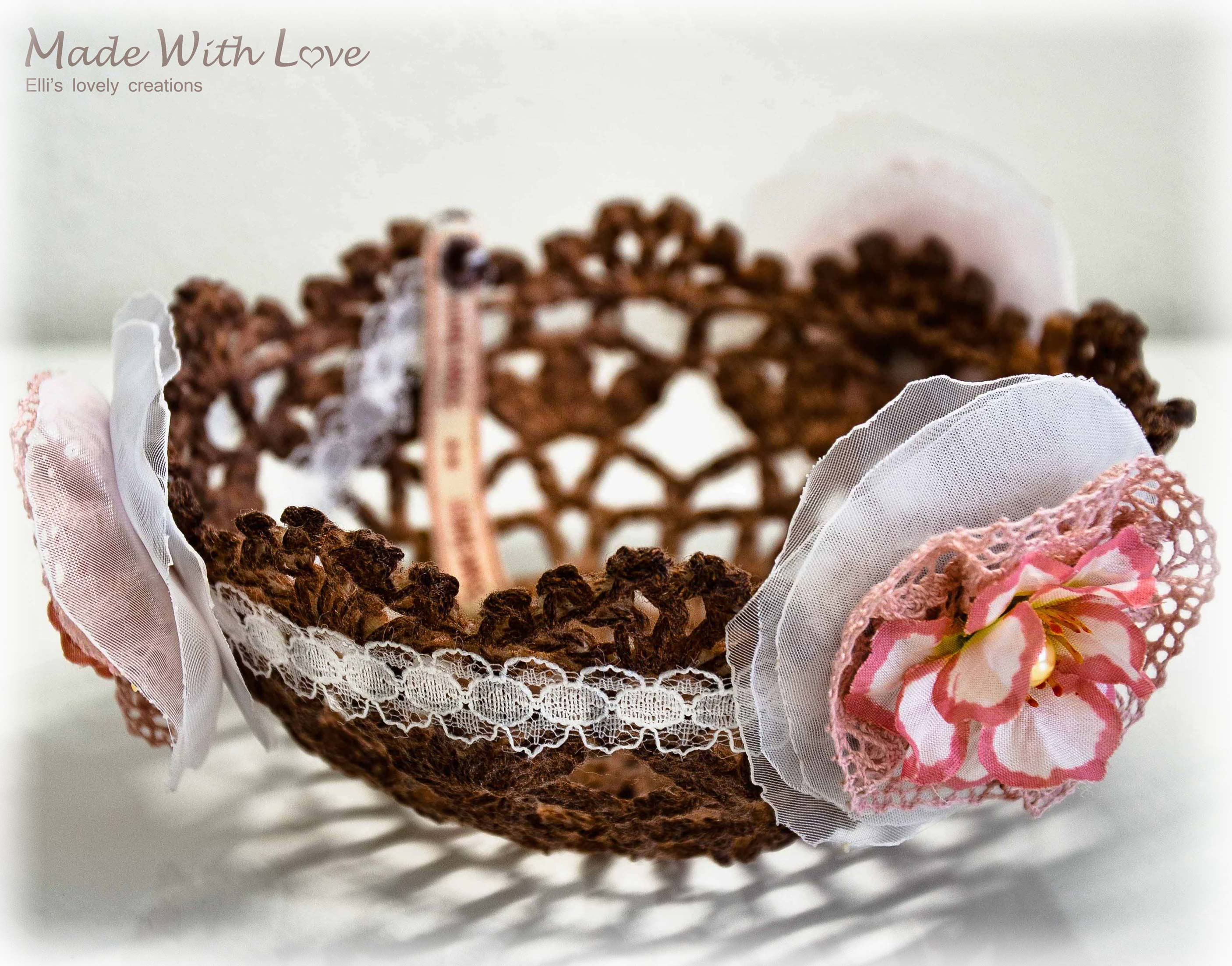 lace doily bowl brown picture 1
