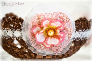 lace doily bowl brown picture 3