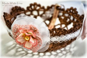 lace doily bowl brown picture 7