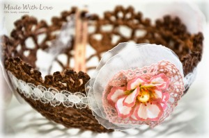 lace doily bowl brown picture 9