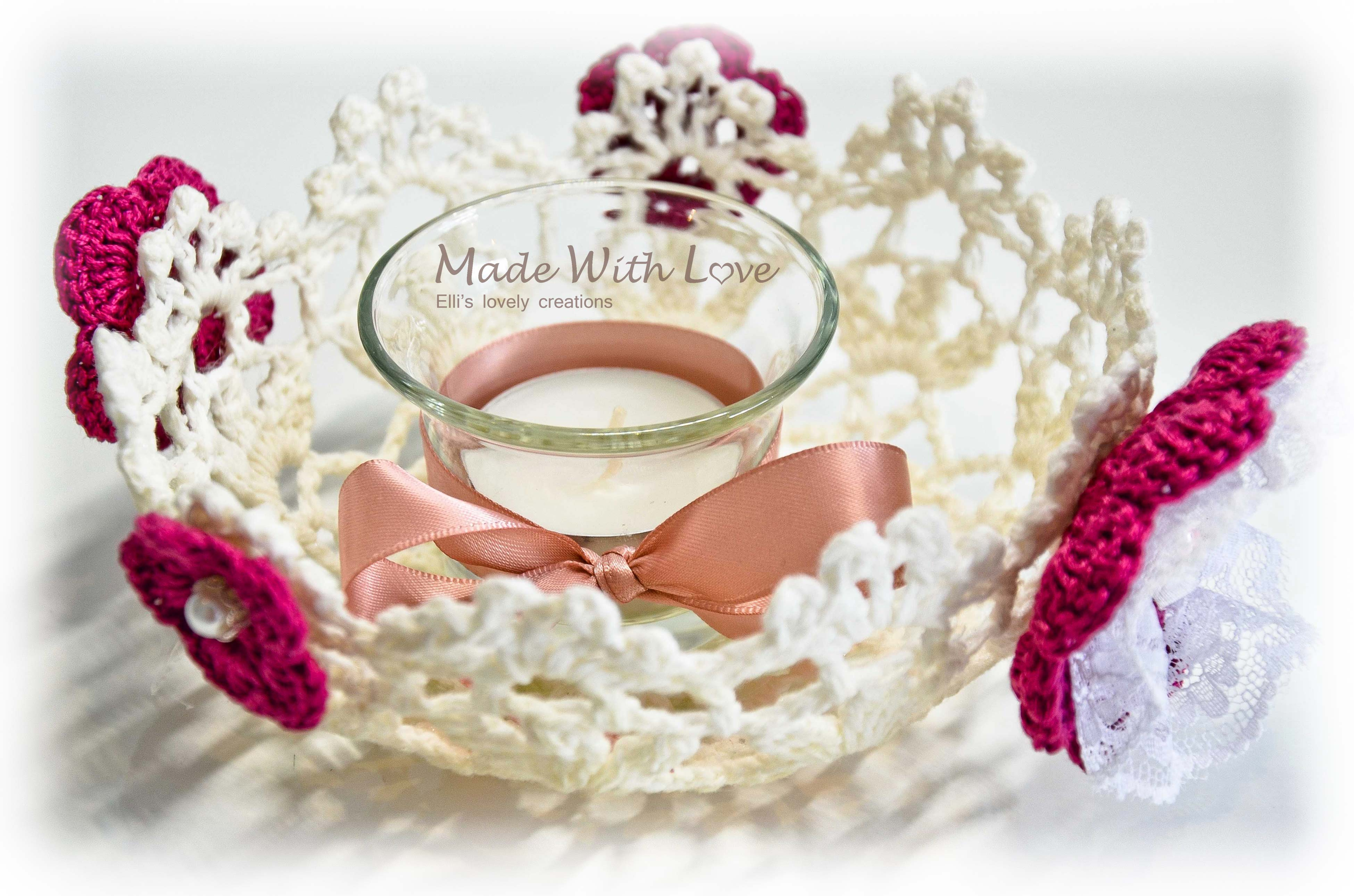Two Lovely Lace Doily Bowls / Baskets
