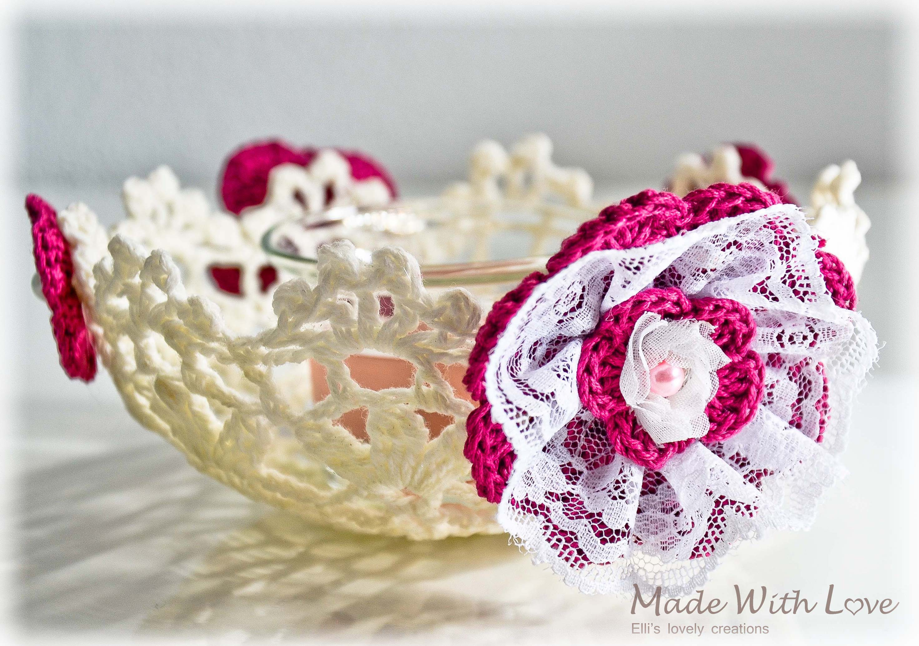 lace doily bowl white picture 4
