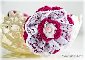 lace doily bowl white picture 7