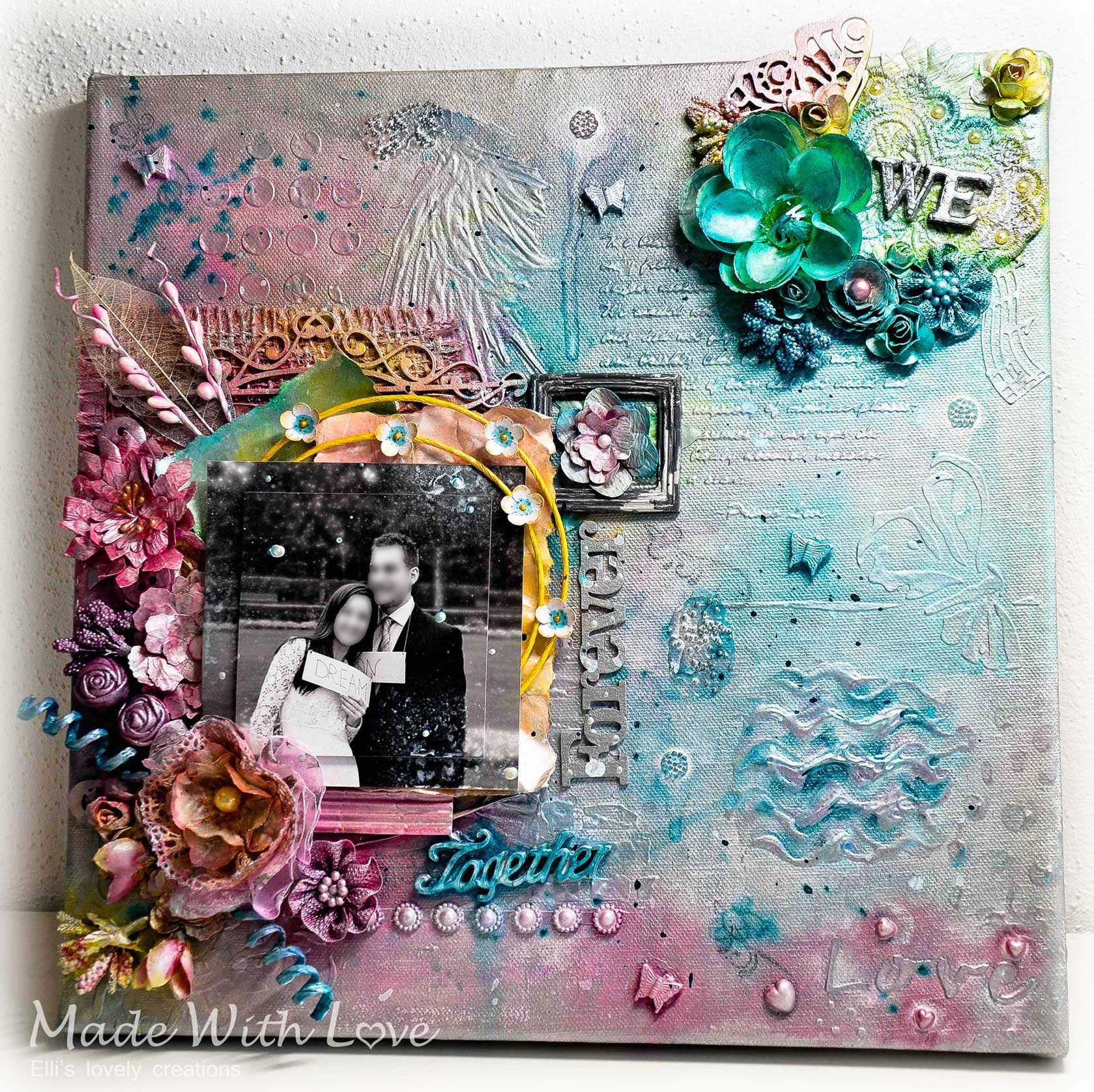 Together Forever: Mixed Media Canvas as a Wedding Gift