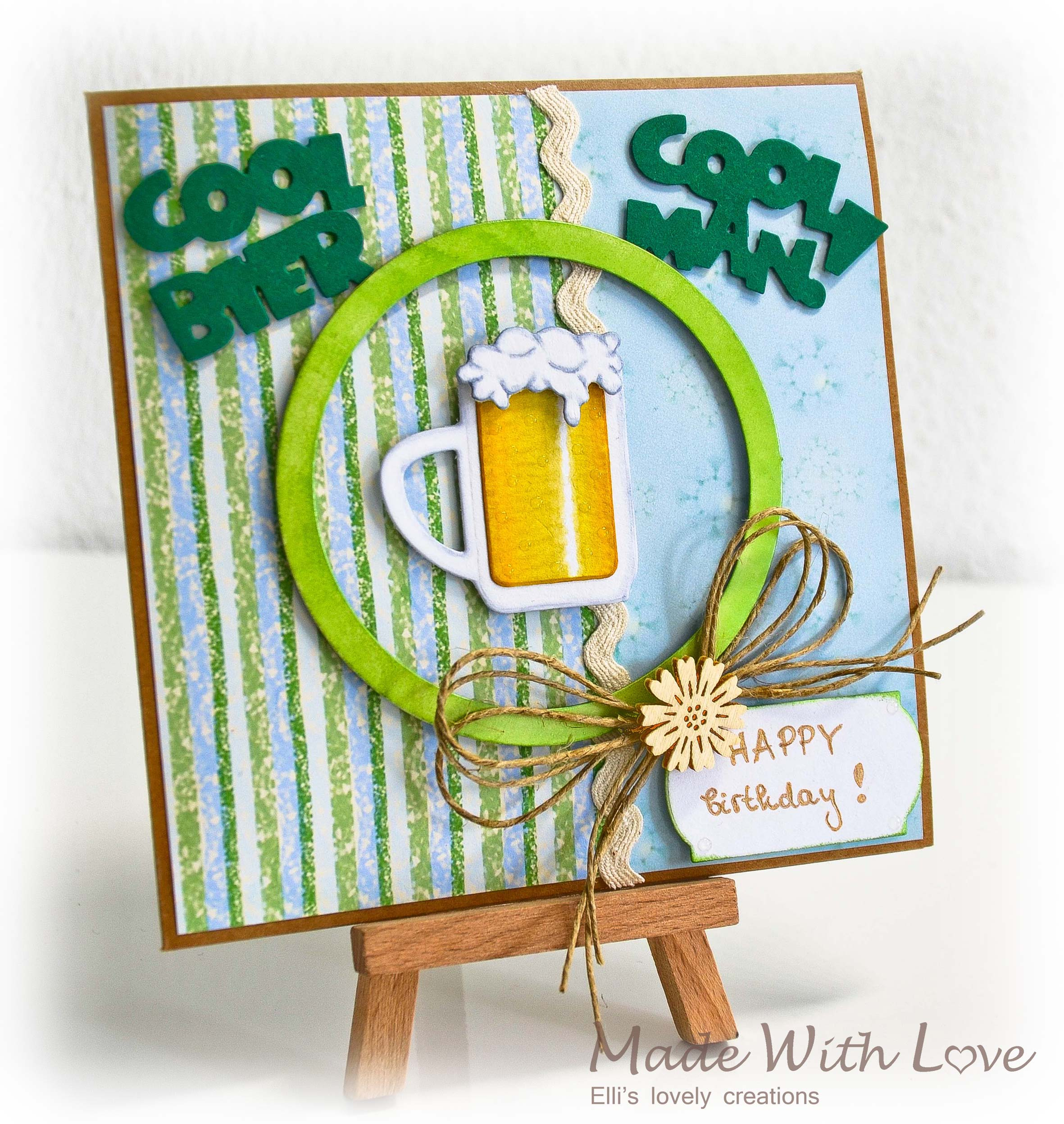 Simple Happy BEERday Card for Him 1