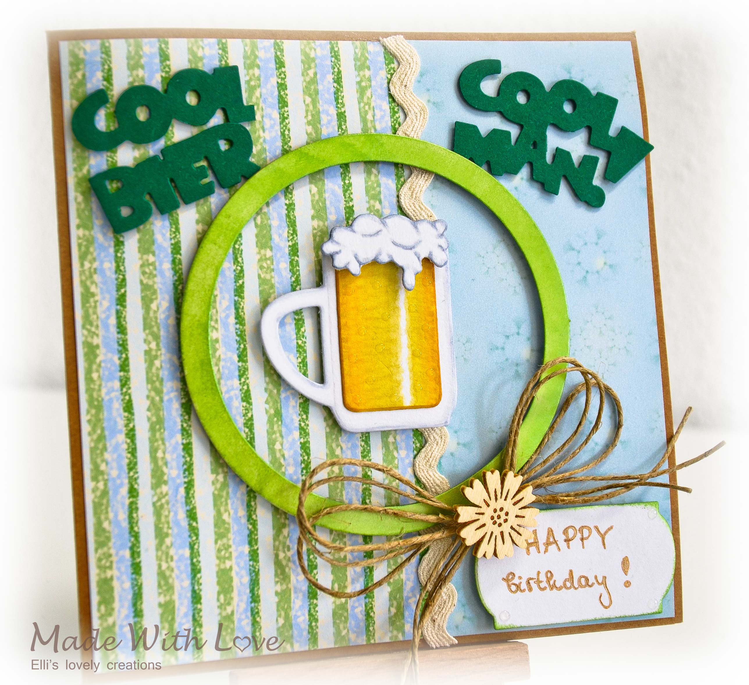 Simple Happy BEERday Card for Him