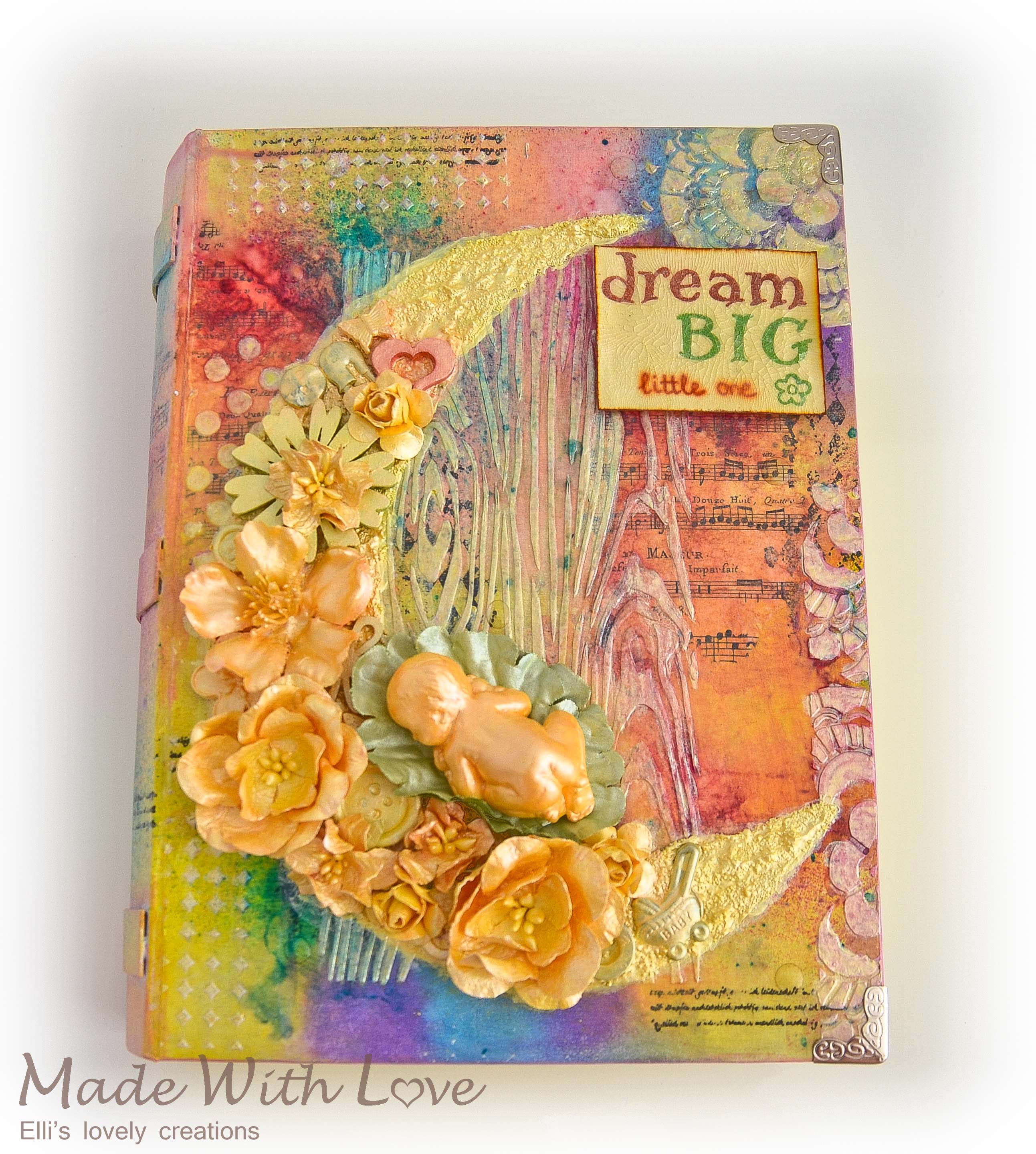 Mixed Media Baby Precious Book Box 1