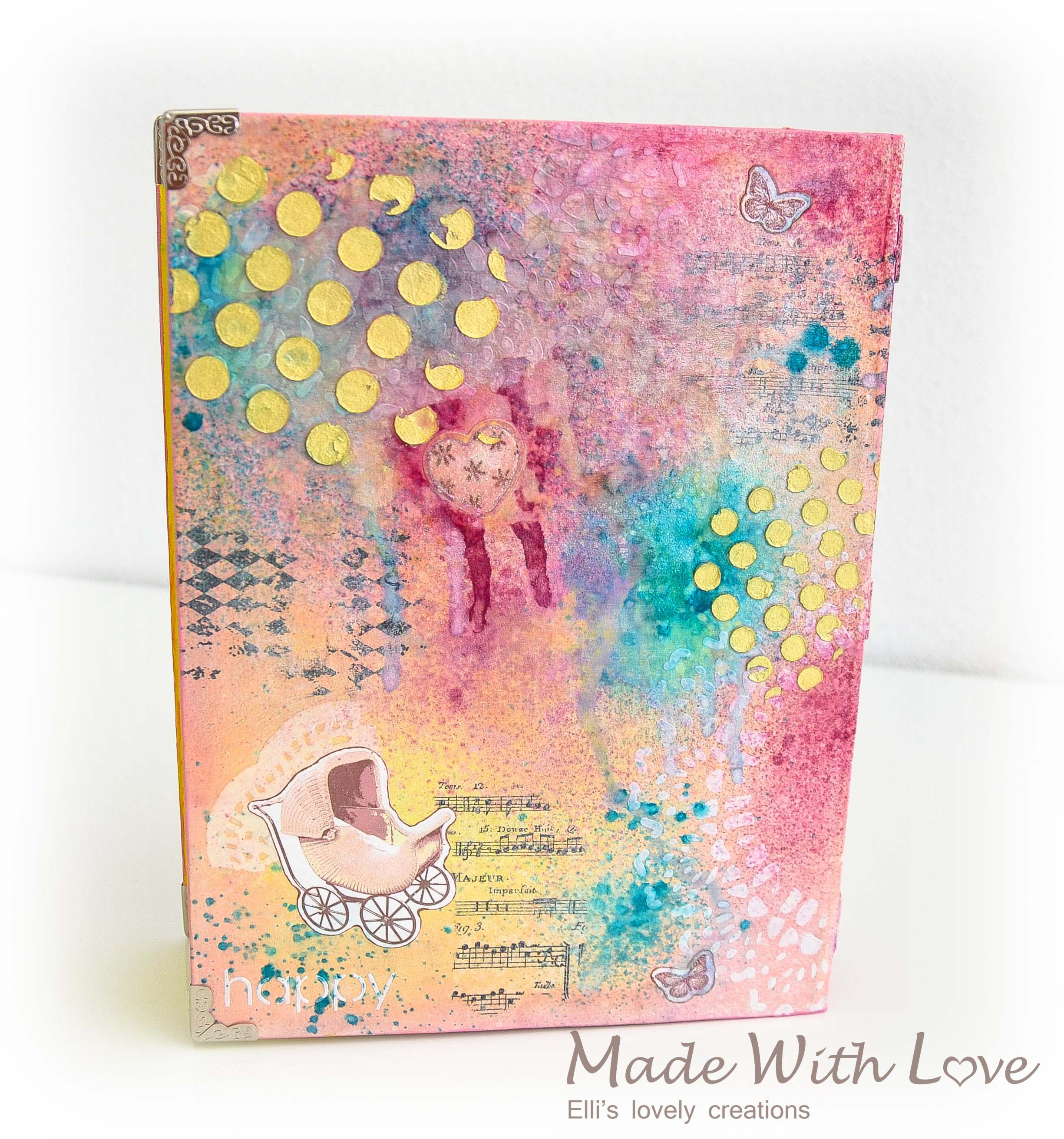 Mixed Media Book Box for a Newborn Girl 12