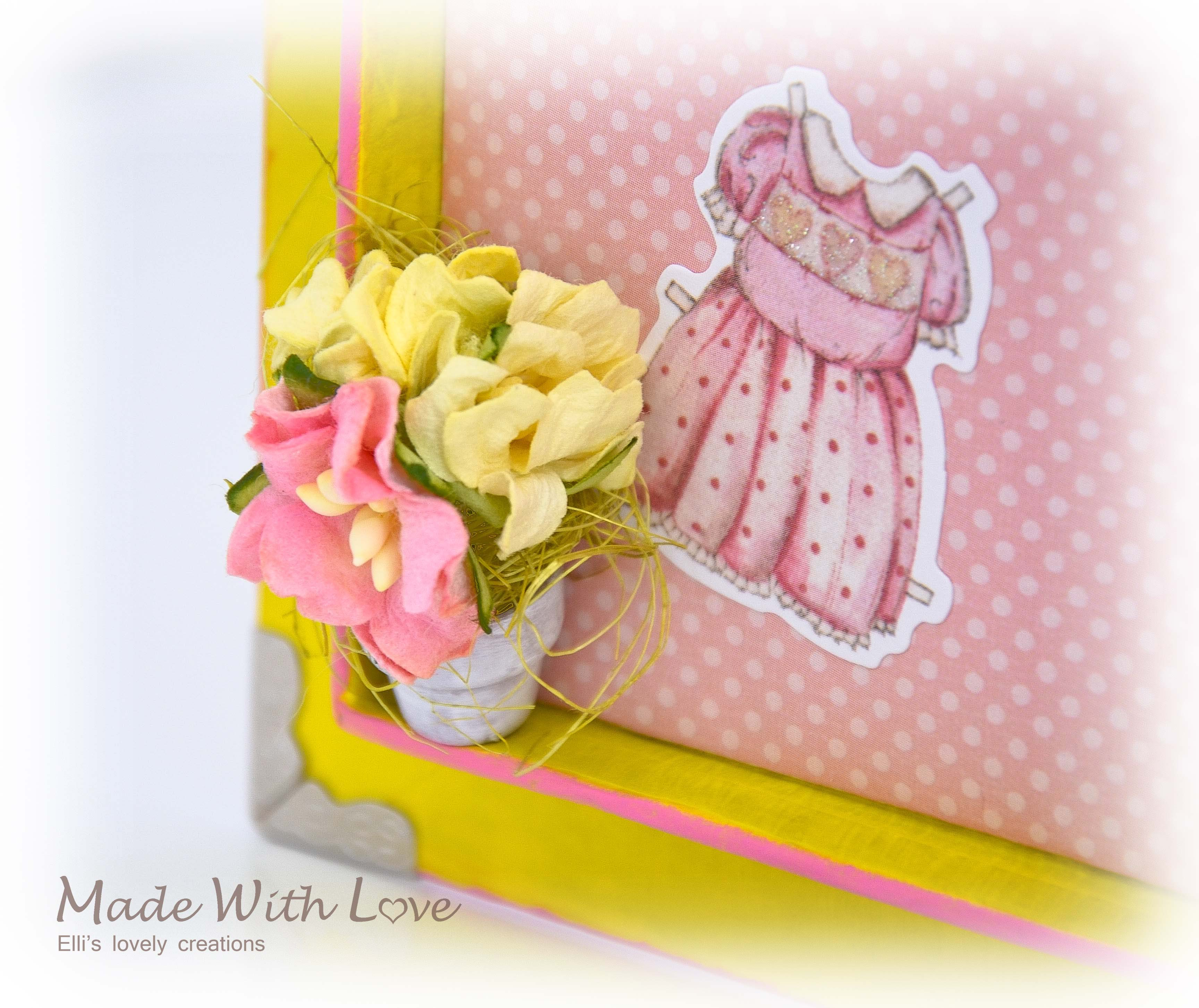 Mixed Media Book Box for a Newborn Girl 23