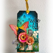 Mixed Media Art Tag Hello Life 1