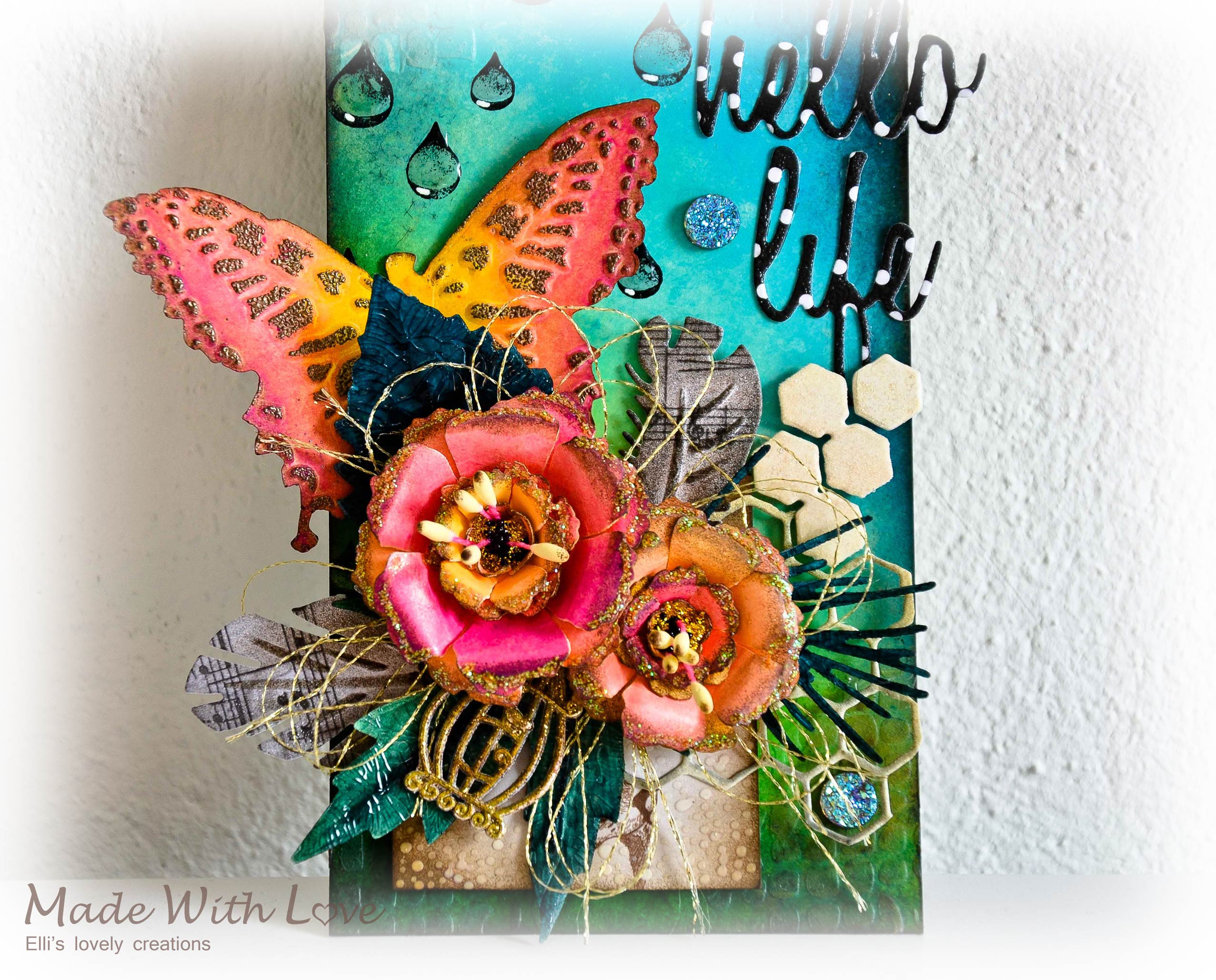 Mixed Media Art Tag Hello Life 2