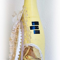 Shabby Chic Decoupage Altered Bottle First Baby 1