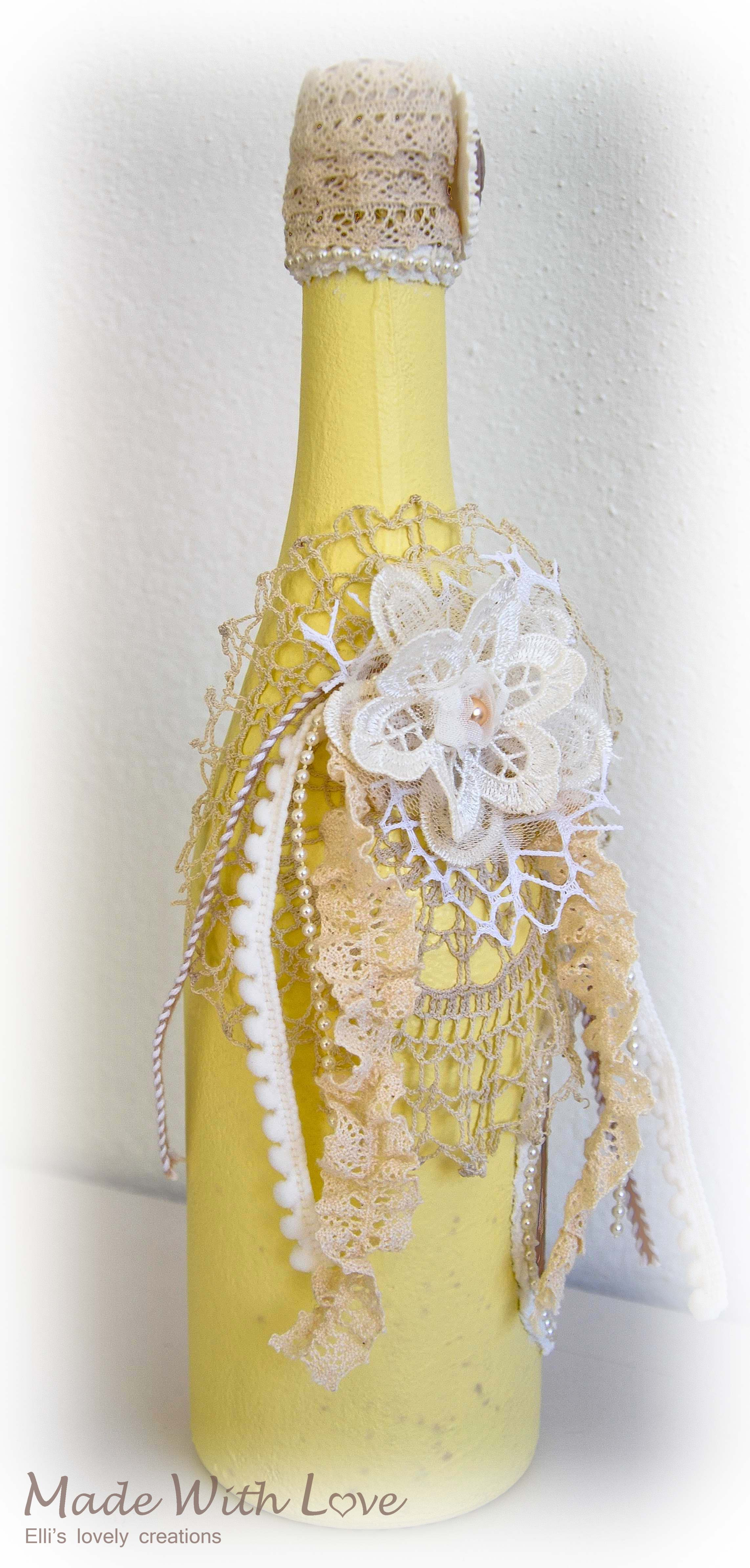 Shabby Chic Decoupage Altered Bottle  Hello Little Baby 2