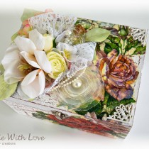 Shabby Chic Decoupage Wedding Wooden Box 4