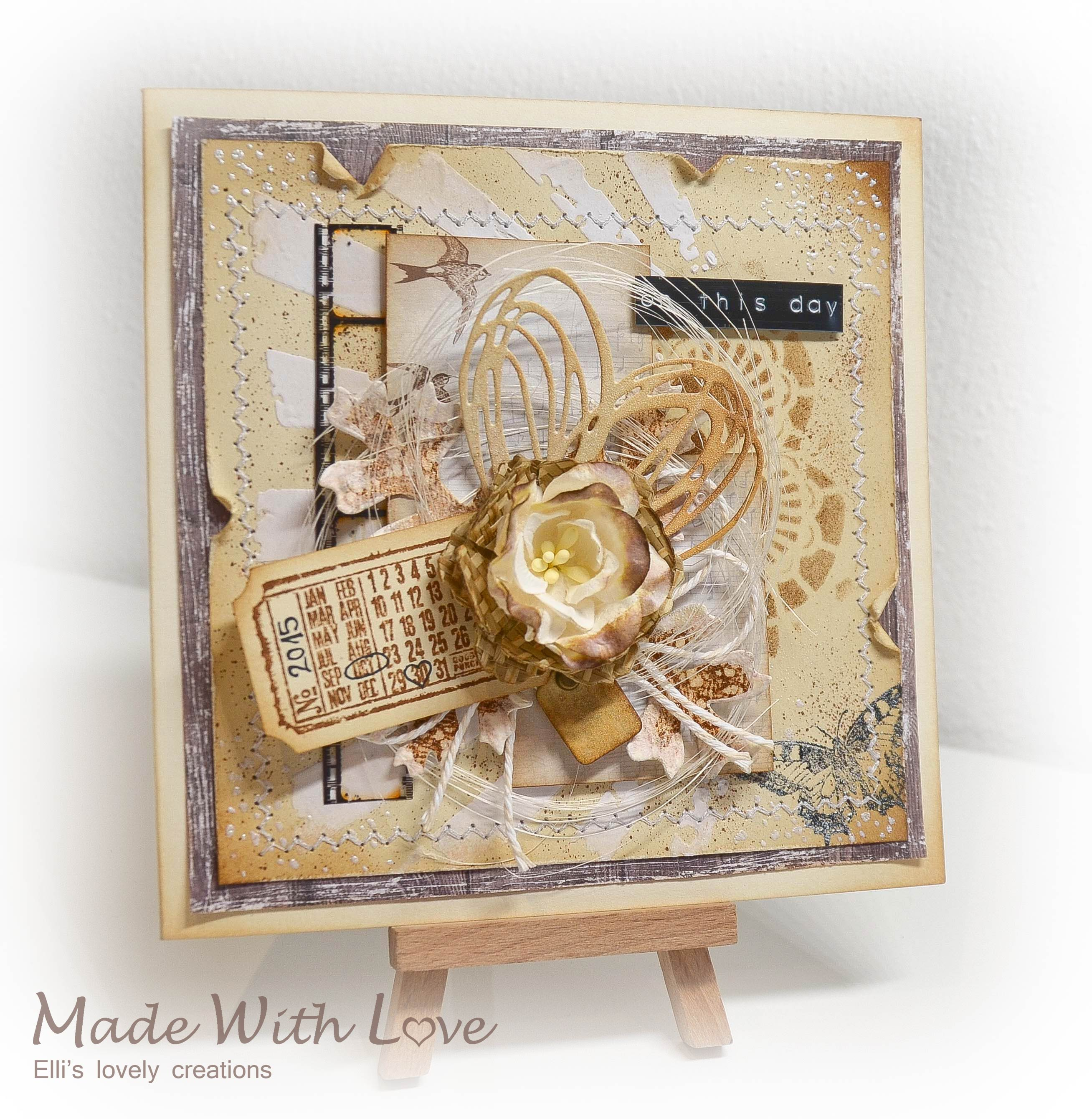 Mixed Media Vintage Wedding Card On This Day 2
