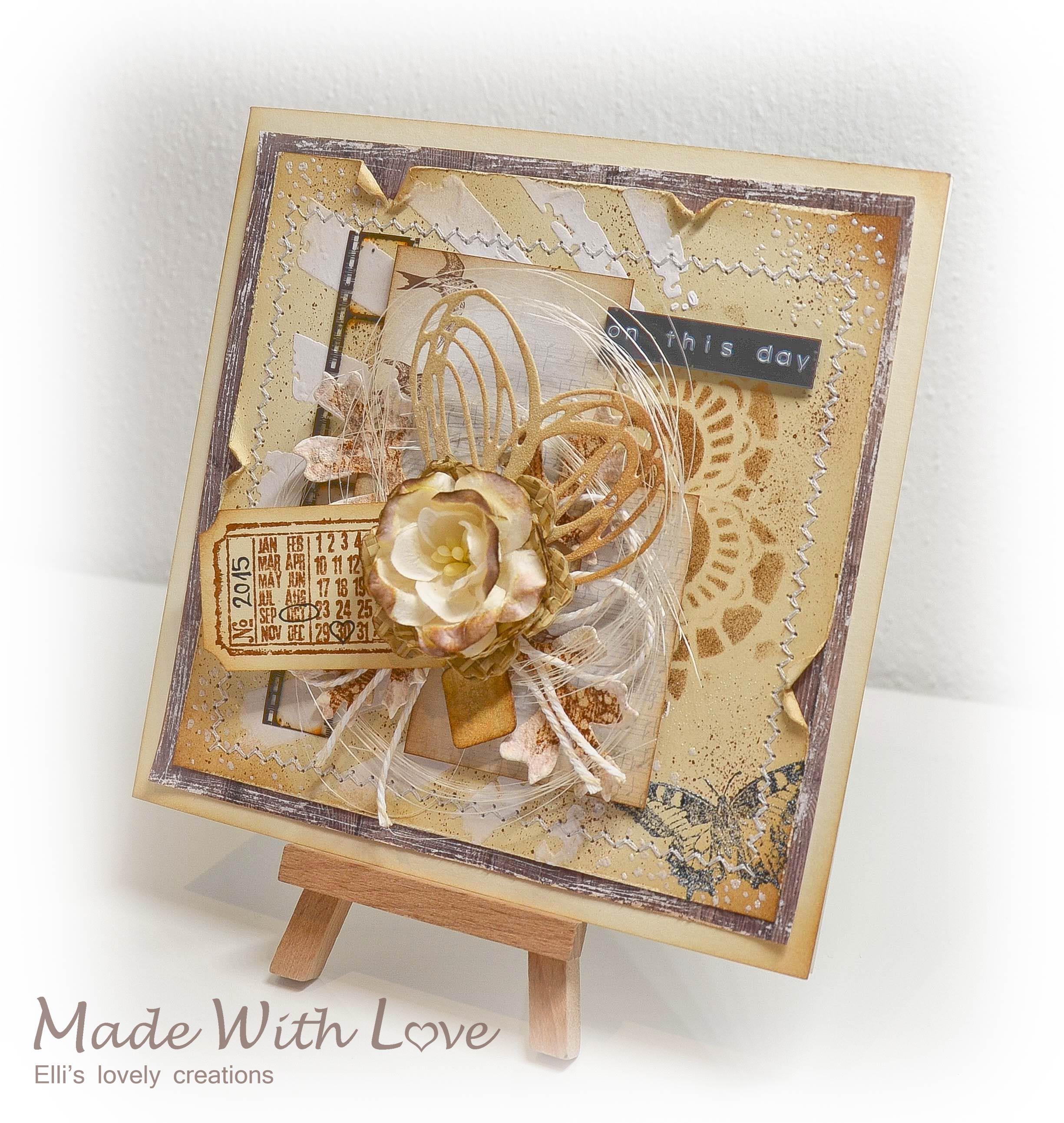 Mixed Media Vintage Wedding Card On This Day 3