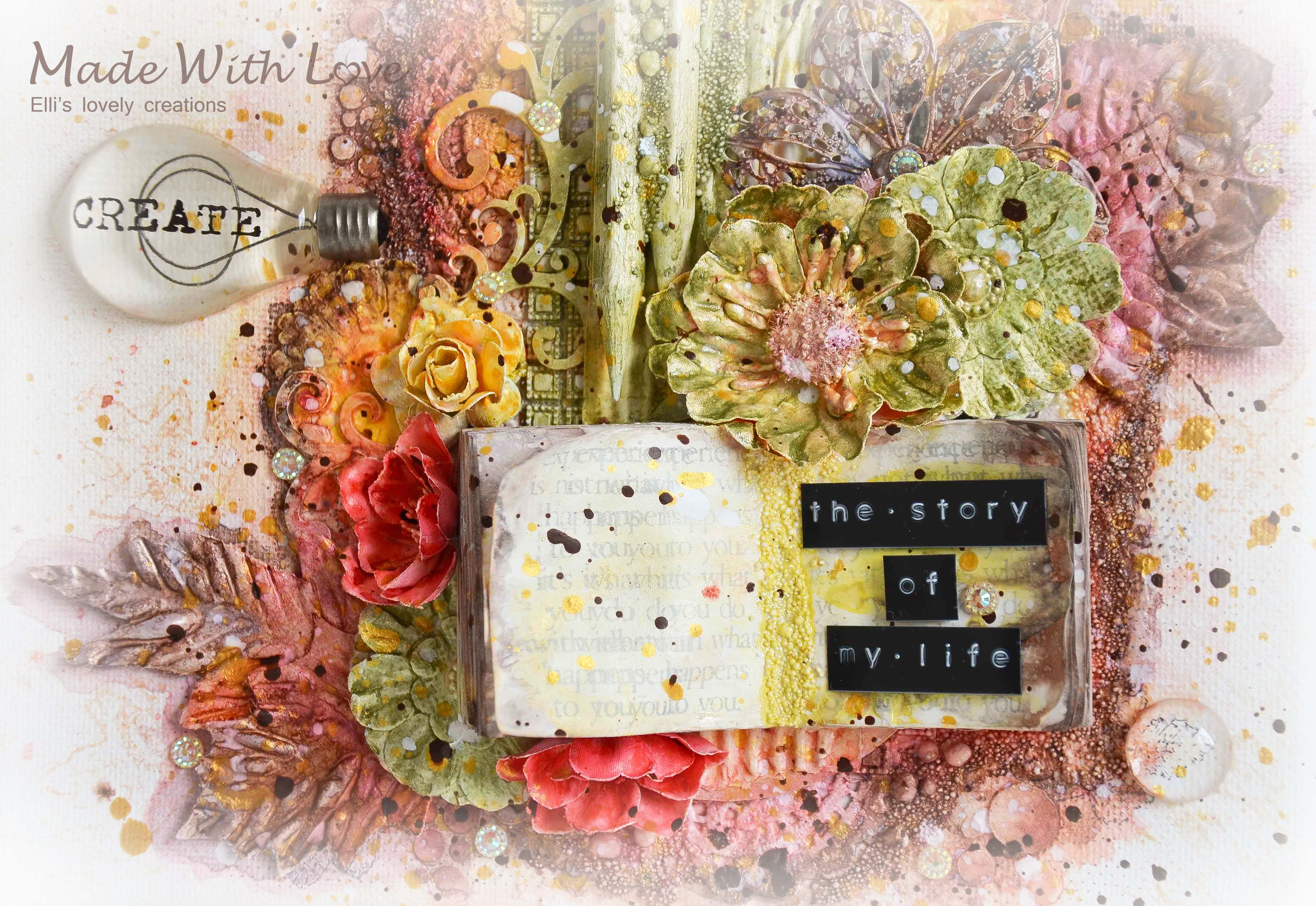Mixed Media Canvas The Story Of My Life 13