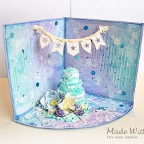 Mixed Media 3D Winter Happy 2nd Birthday Card 4
