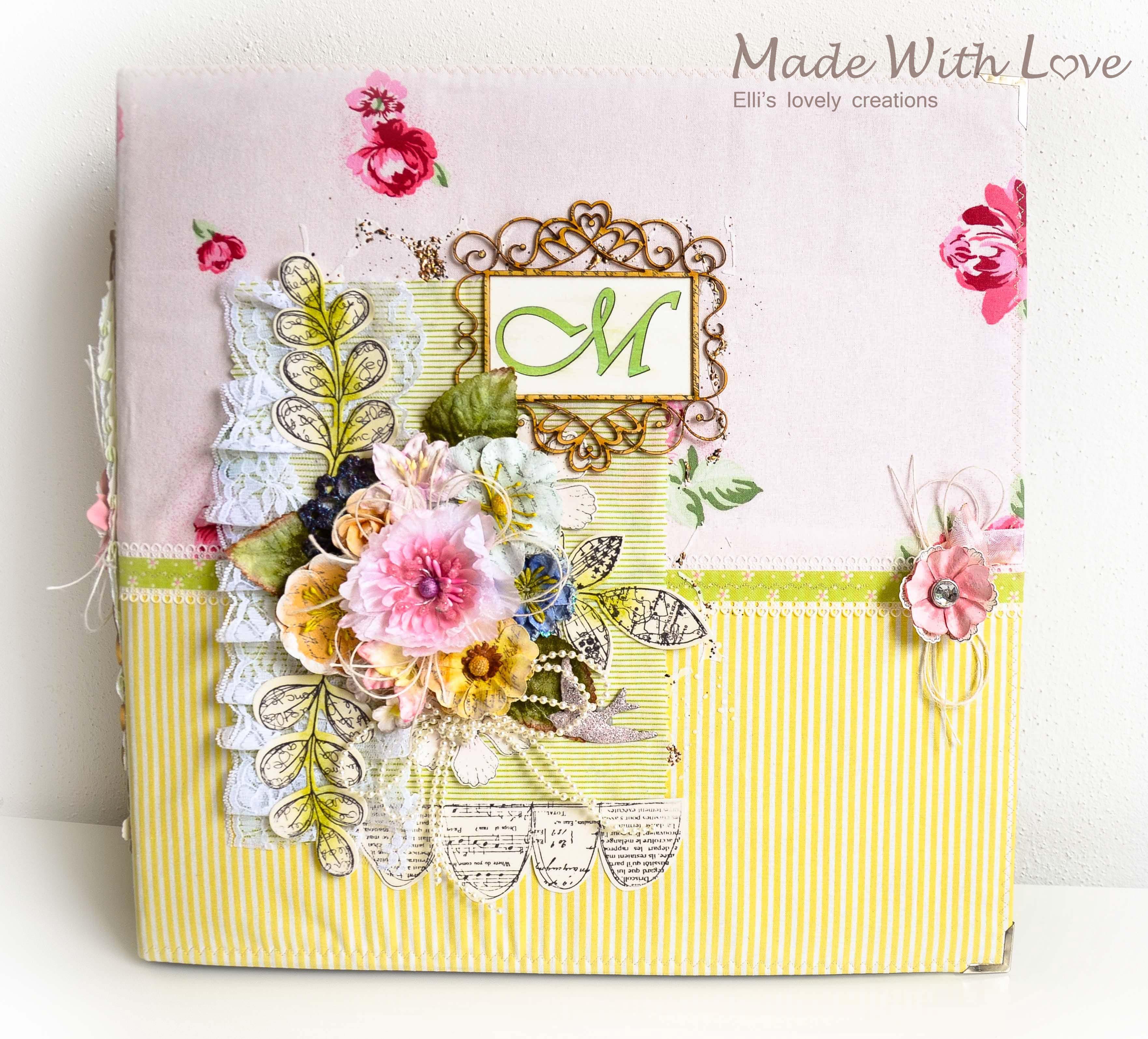 Handmade Scrapbook Fabric Makro Baby Album Maria
