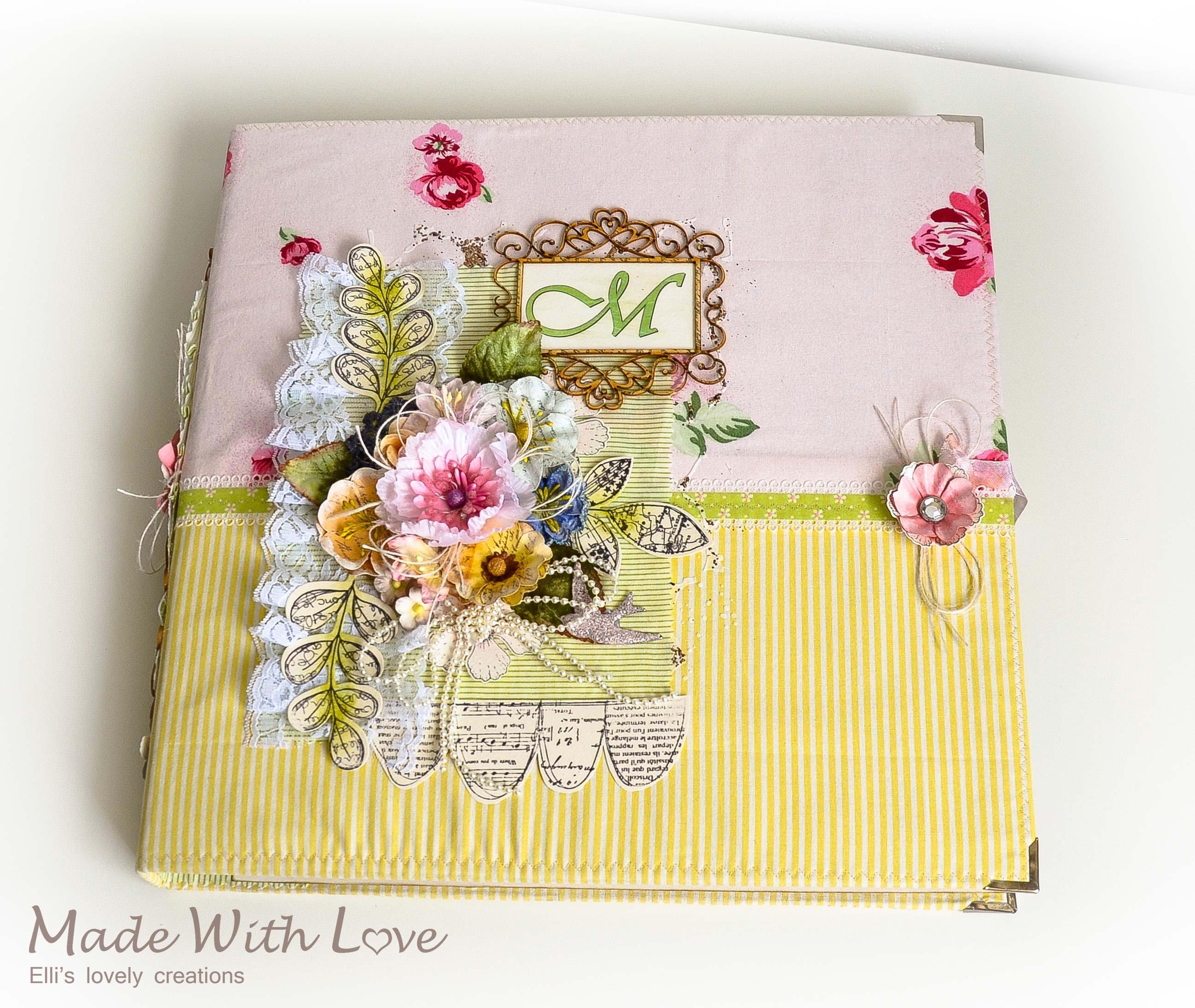 Handmade Scrapbook Fabric Makro Baby Album Maria 5