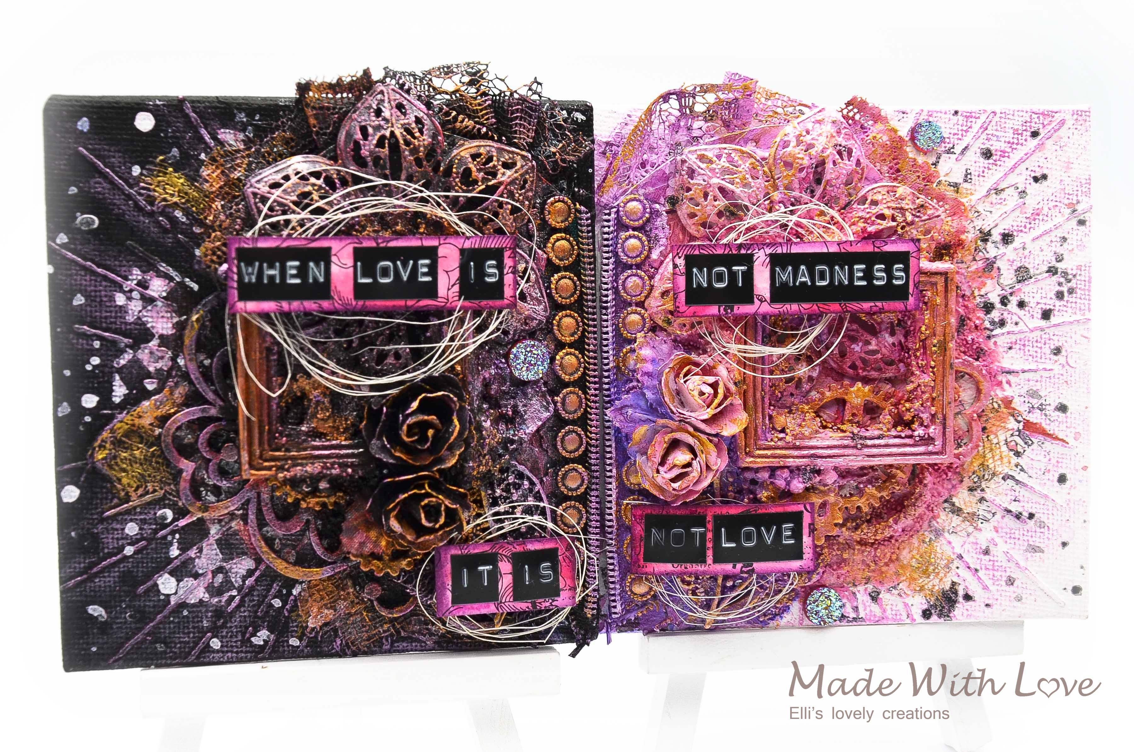 Mixed Media Mini Canvases Love Is Madness 3