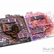 Mixed Media Mini Canvases Love Is Madness 7
