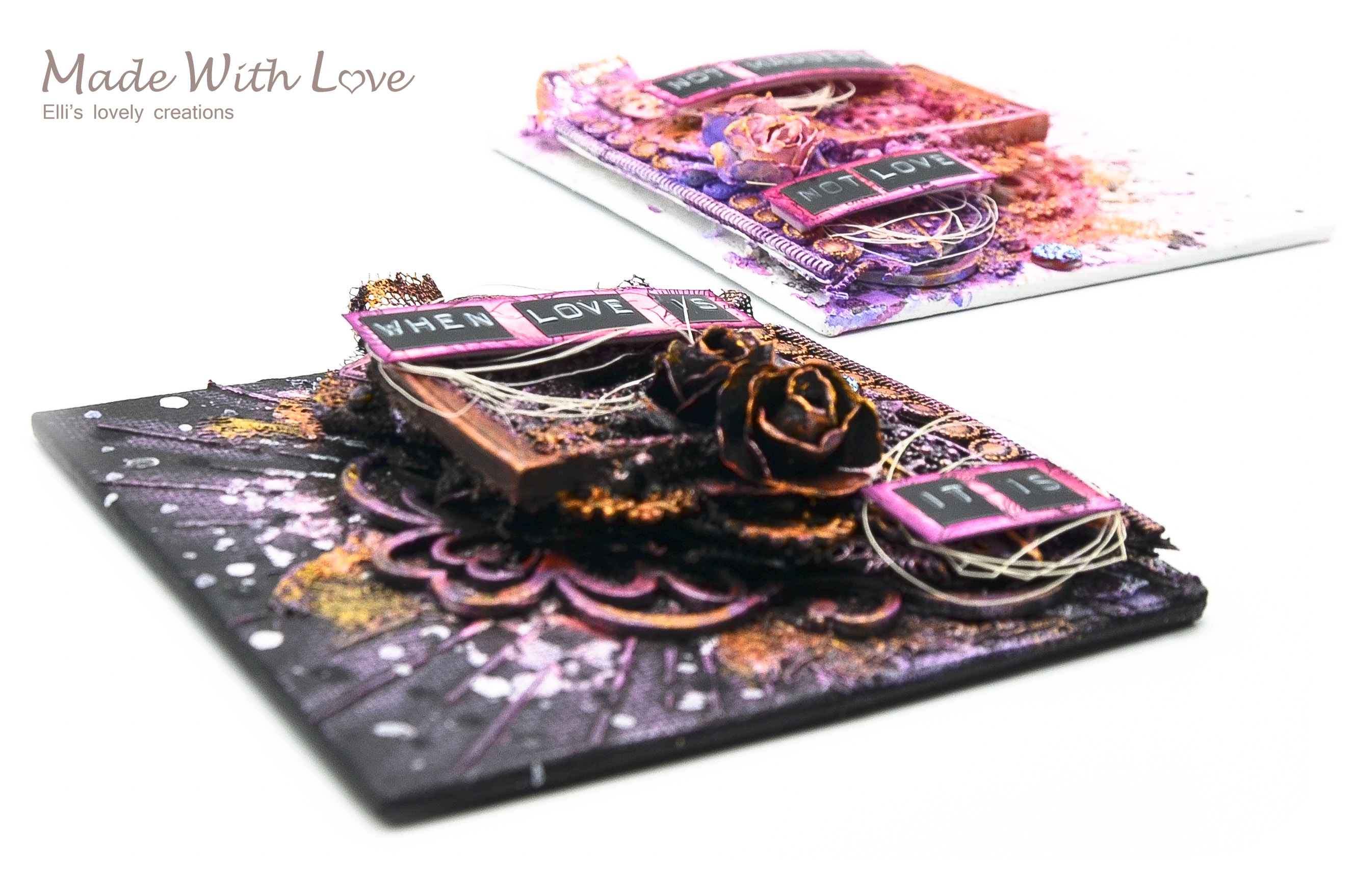 Mixed Media Mini Canvases Love Is Madness 8