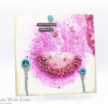 Mixed Media Watercolor Glitter Canvas Little Sparkle 3