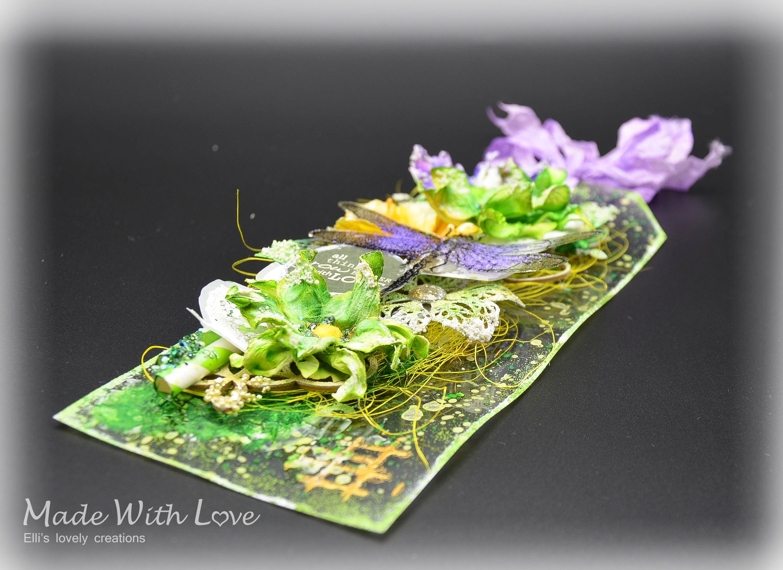 Mixed Media Spring Clear Acetate Tag Grow With Love 10