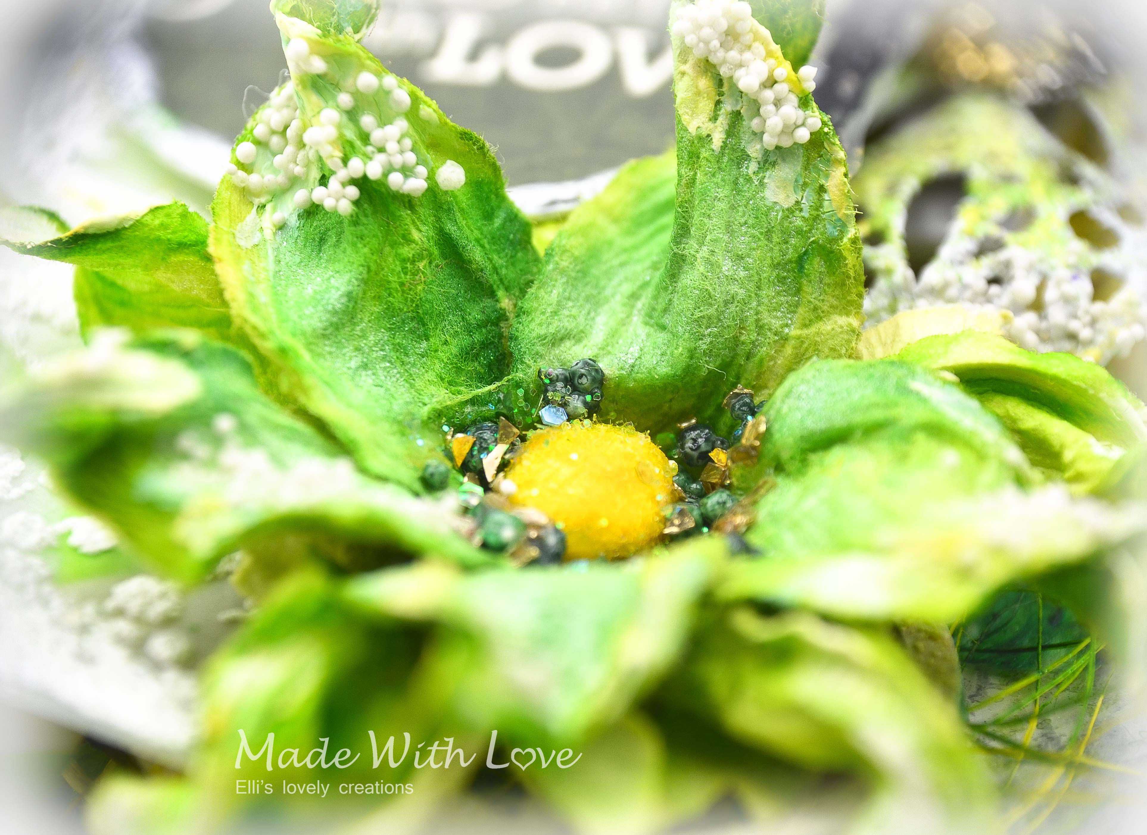 Mixed Media Spring Clear Acetate Tag Grow With Love