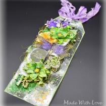 Mixed Media Spring Clear Acetate Tag Grow With Love 8