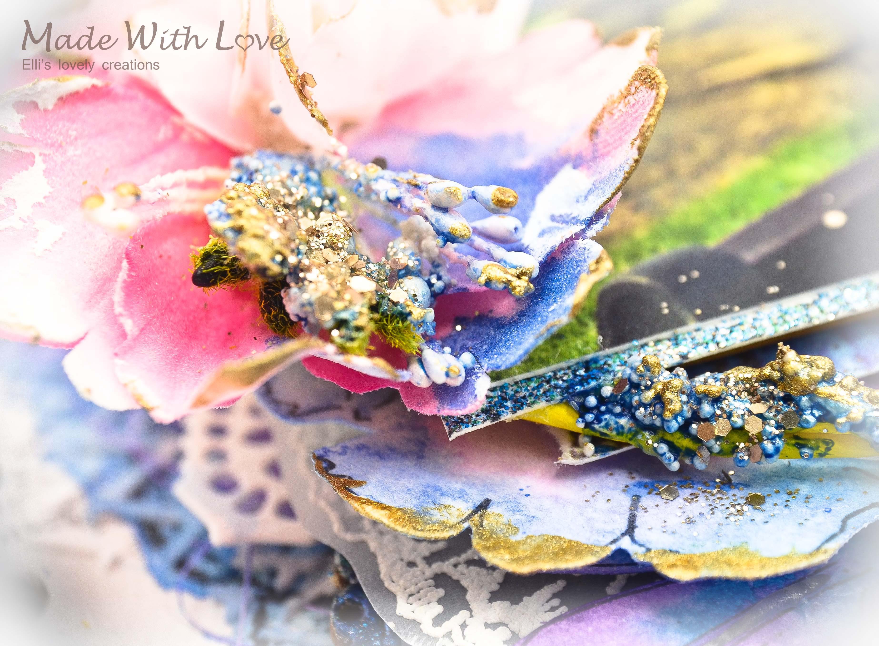 Mixed Media Summer Garden Wedding Album Cover Enjoy 0013