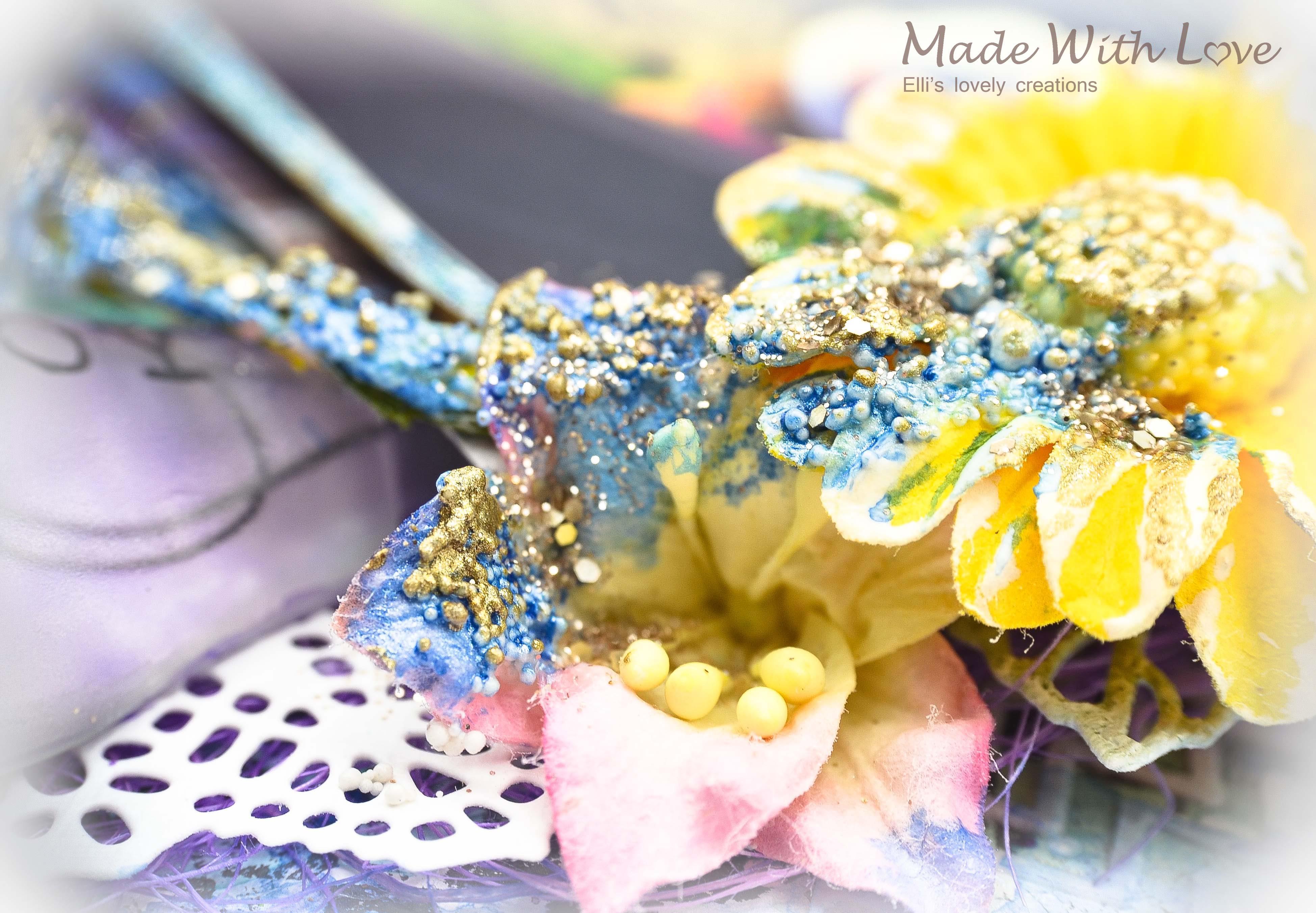 Mixed Media Summer Garden Wedding Album Cover Enjoy 0015