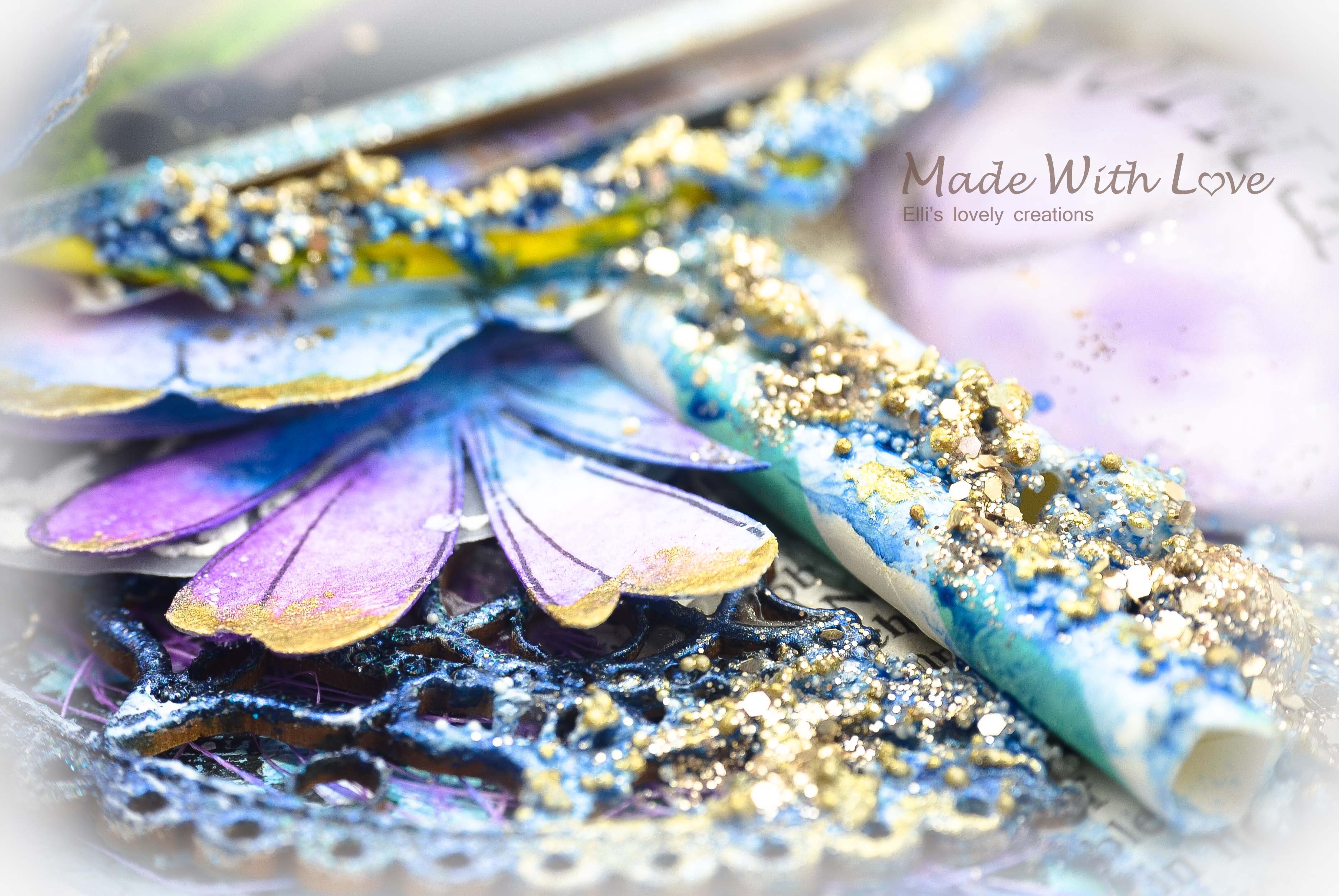 Mixed Media Summer Garden Wedding Album Cover Enjoy 0019