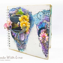 Mixed Media Summer Garden Wedding Album Cover Enjoy 002