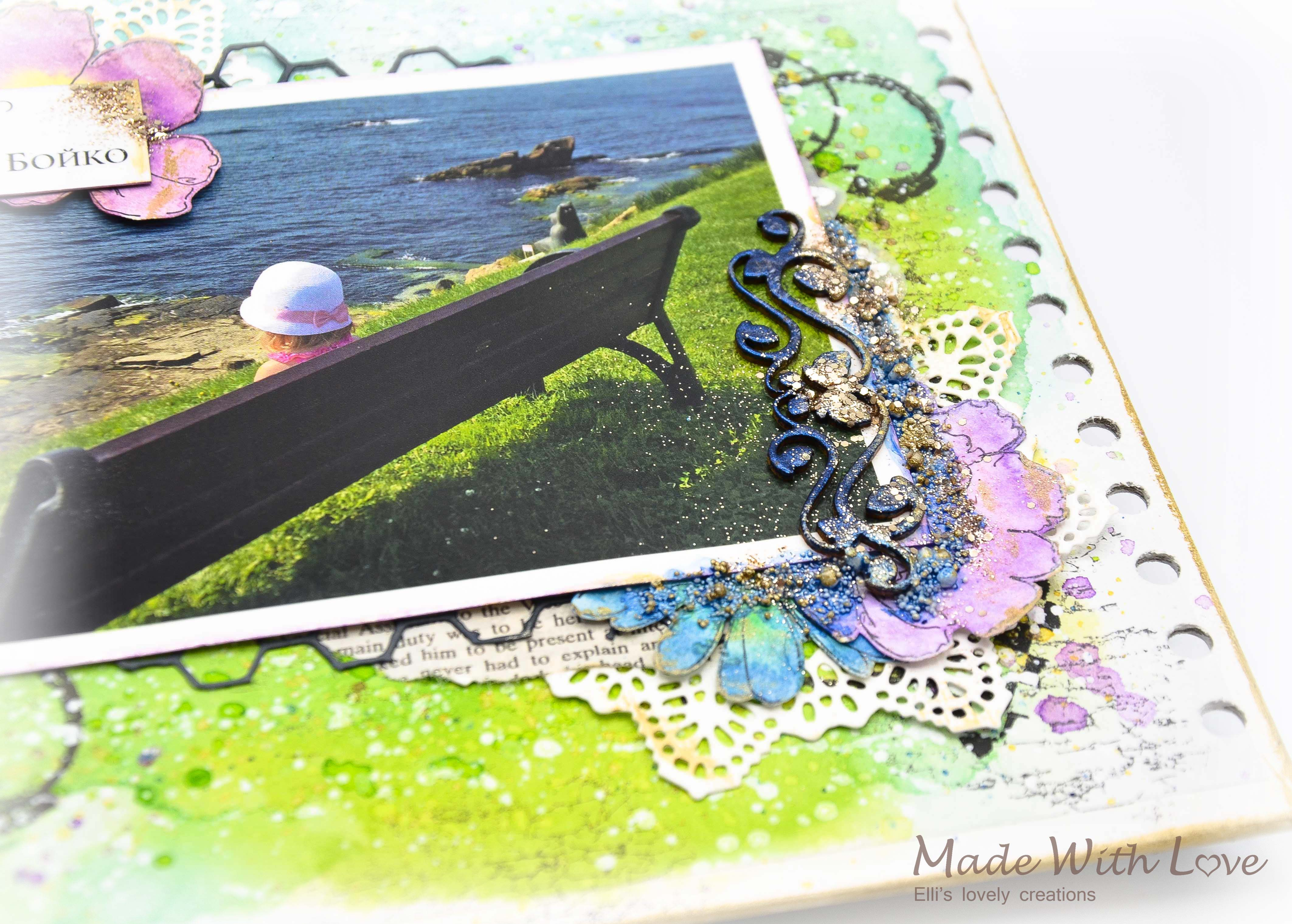 Mixed Media Summer Garden Wedding Album Cover Enjoy 0031