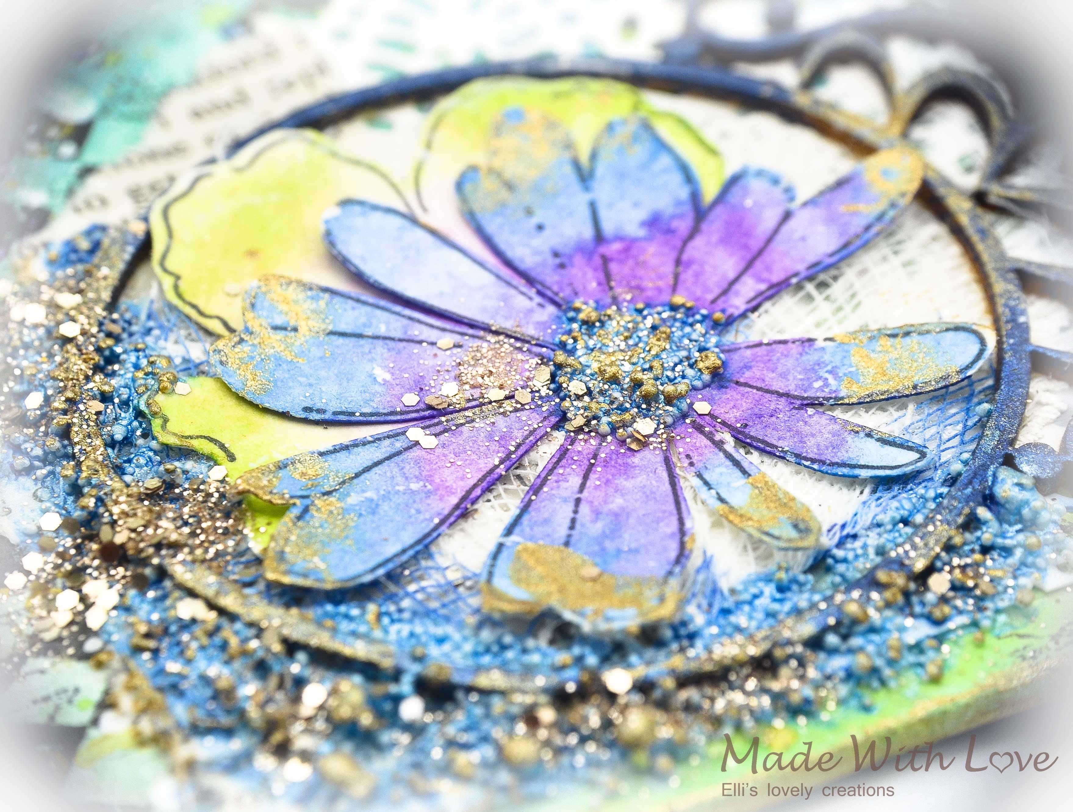 Mixed Media Summer Garden Wedding Album Cover Enjoy 0043