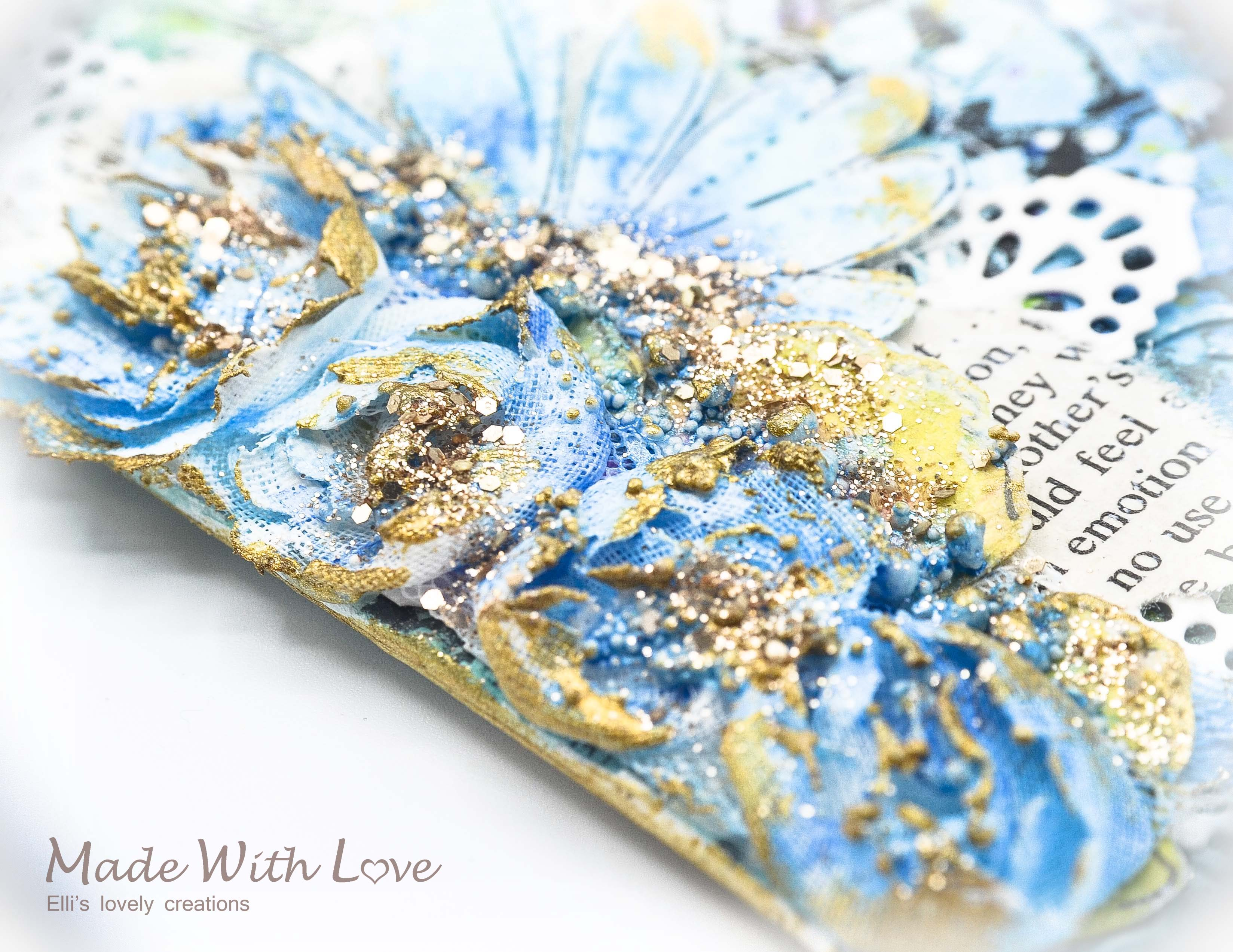 Mixed Media Summer Garden Wedding Album Cover Enjoy 0054