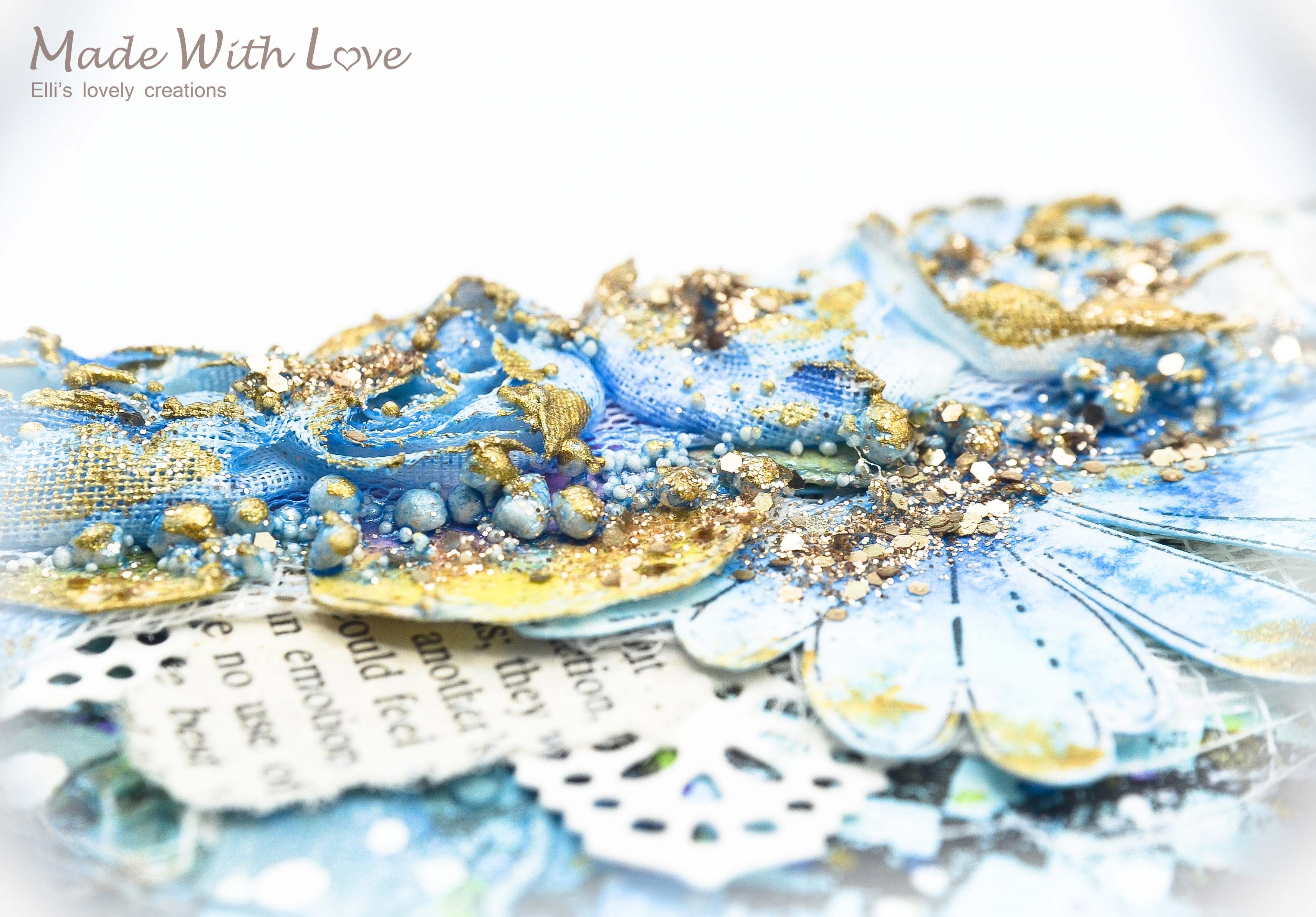 Mixed Media Summer Garden Wedding Album Cover Enjoy 0055