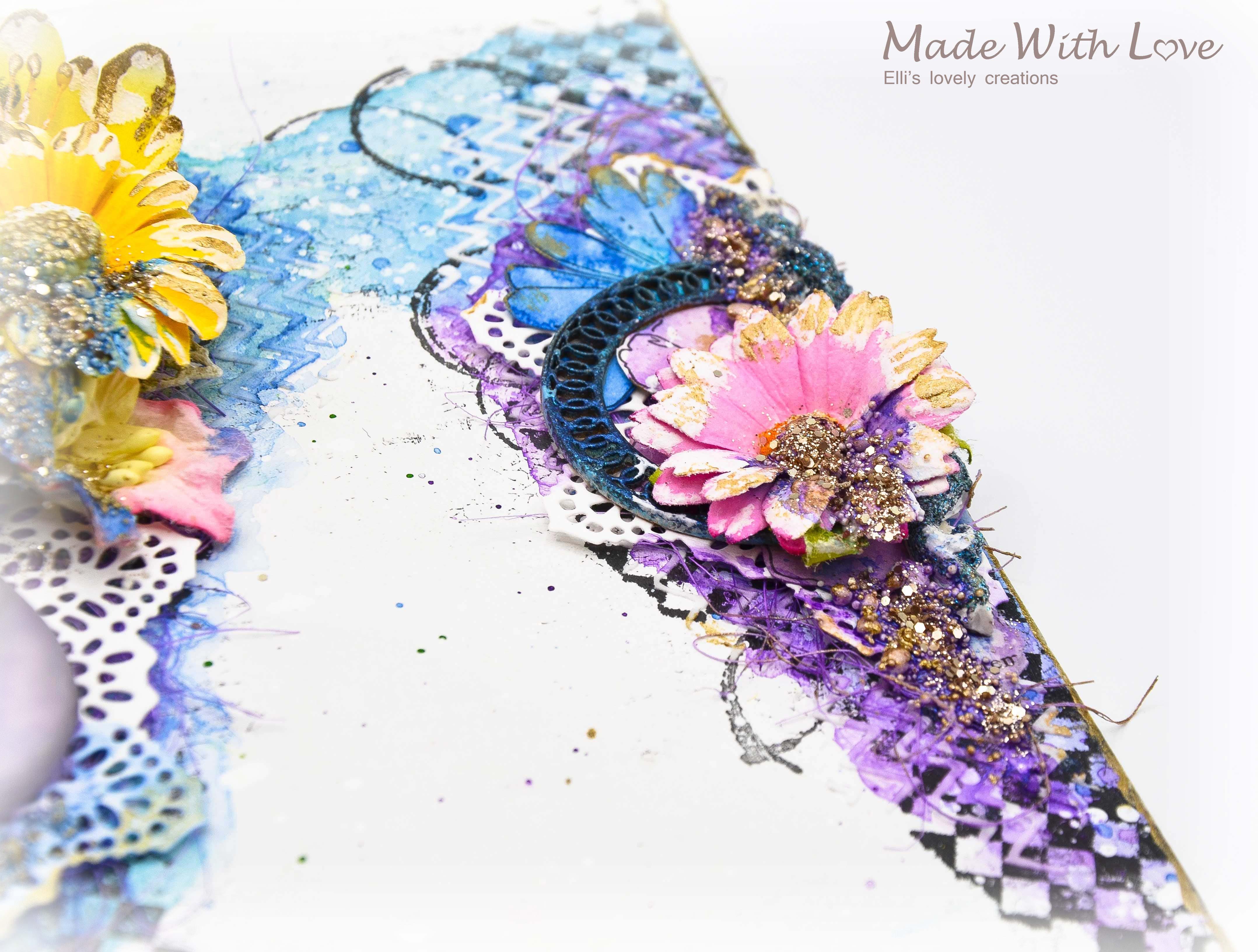 Mixed Media Summer Garden Wedding Album Cover Enjoy 008
