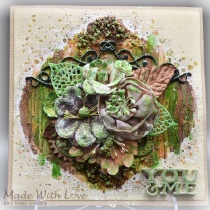 Mixed Media Autumn Greeting Card You and Me 2