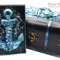 Mixed Media Magic Sea Anchor Card Shell Box Set 1