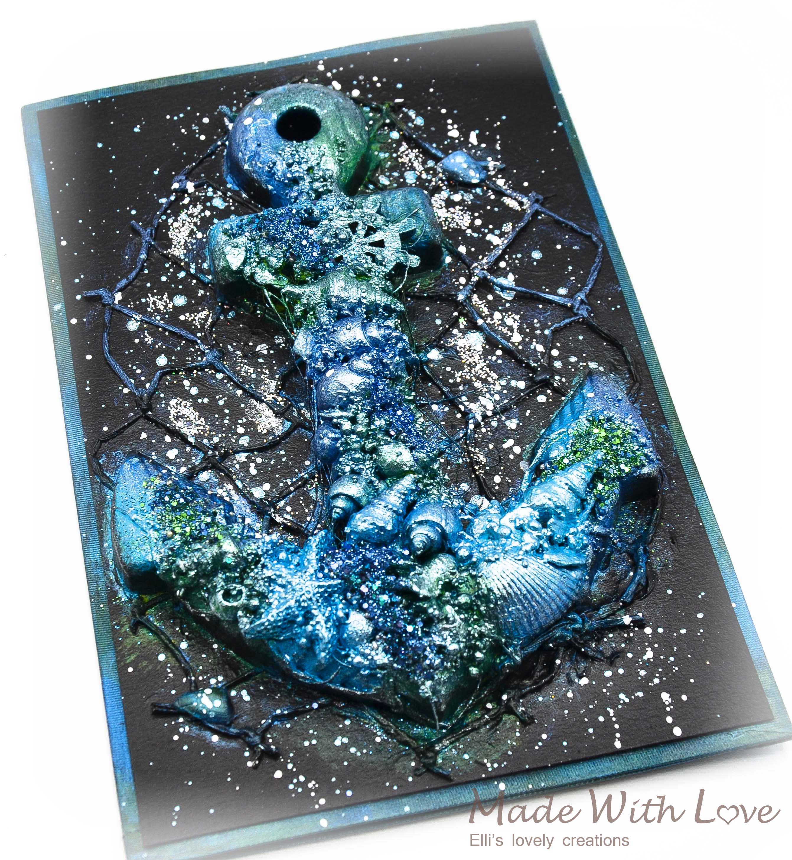 Mixed Media Magic Sea Anchor Card Shell Box Set 11