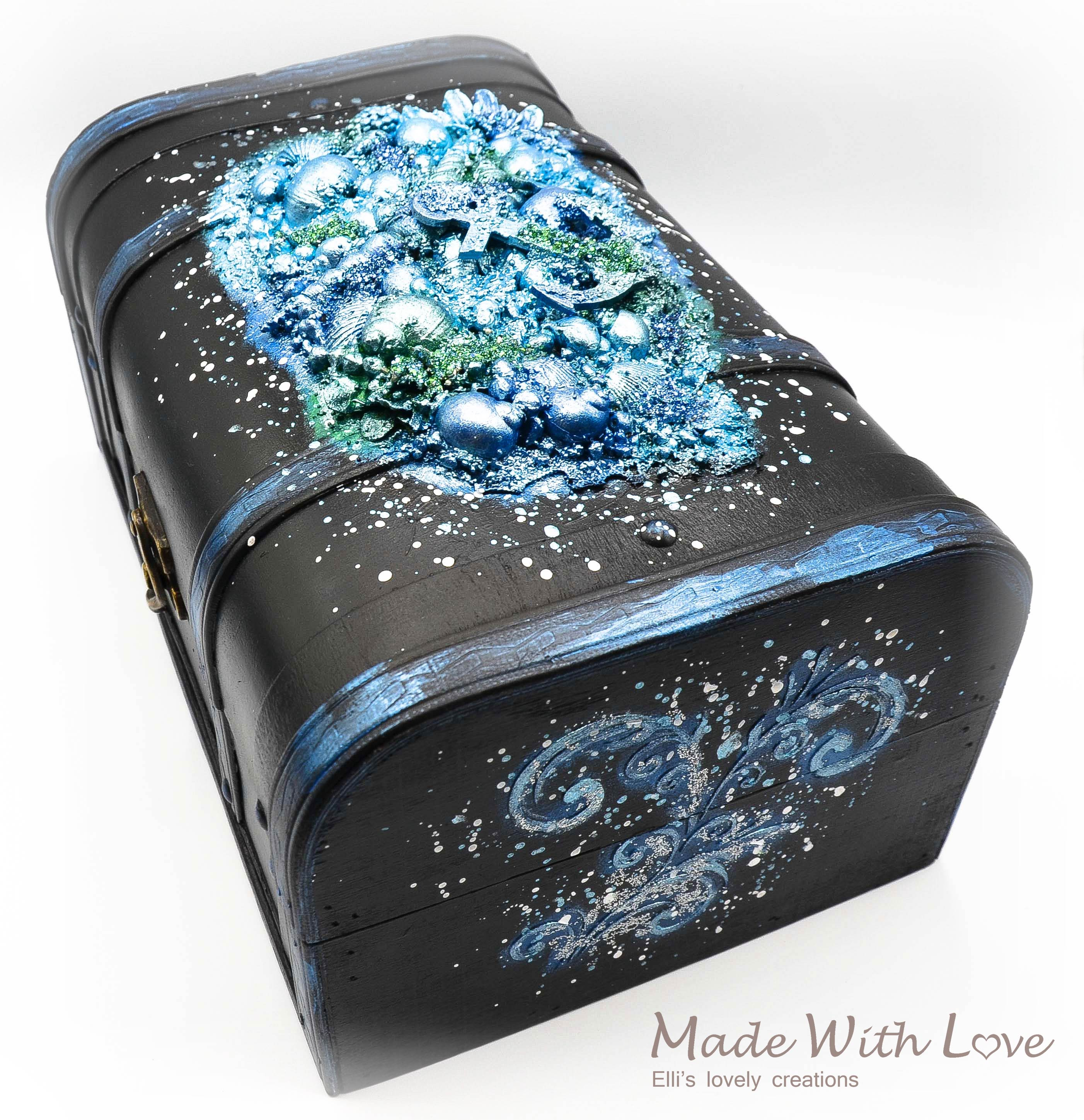 Mixed Media Magic Sea Anchor Card Shell Box Set 8