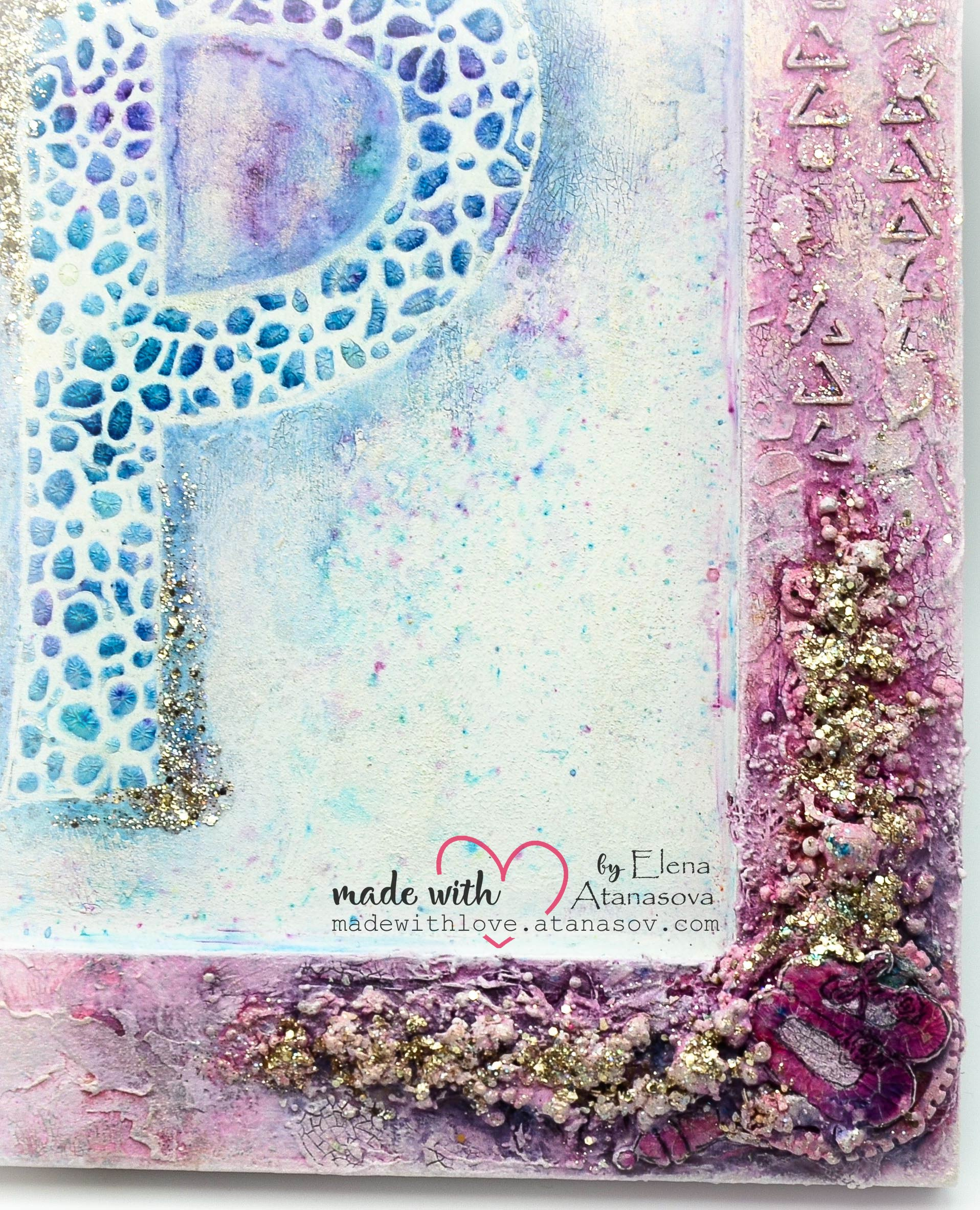 Mixed Media Baby Photo Frame 8