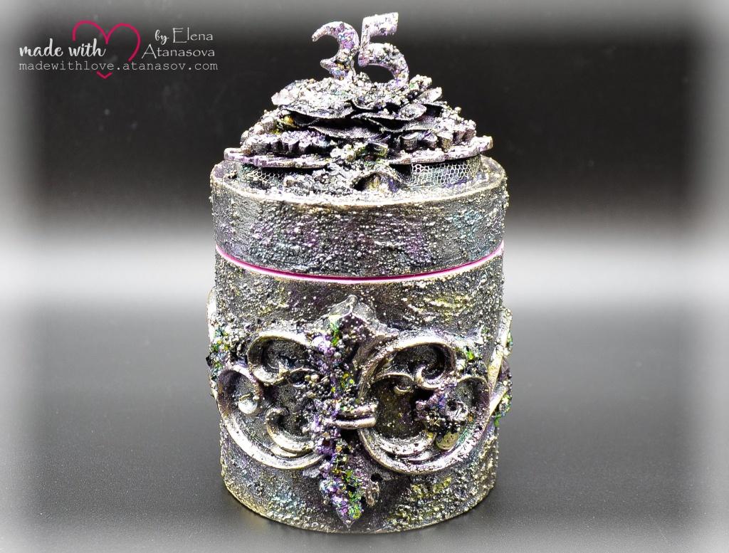 Mixed Media Jewelry Box Happy 35