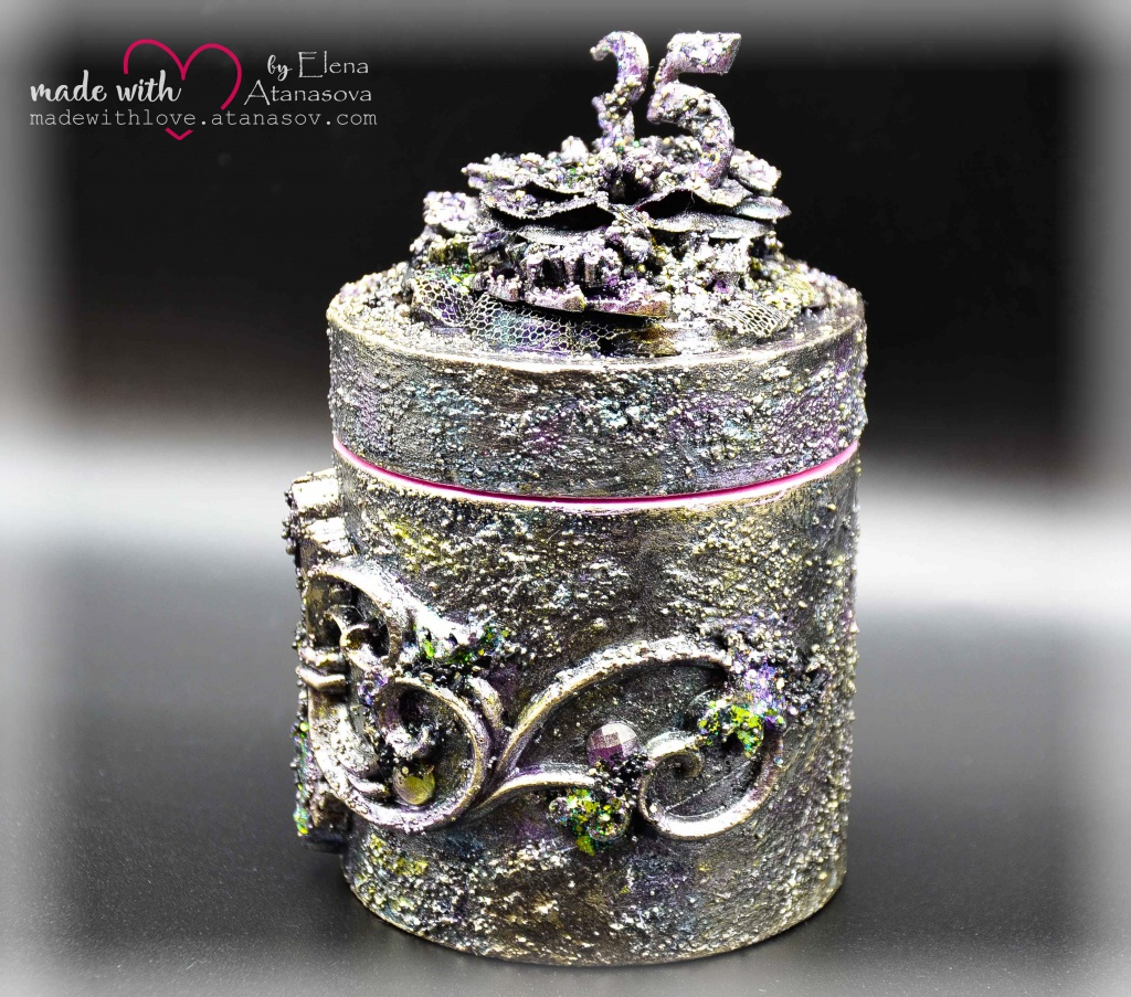 Mixed Media Jewelry Box Happy 35