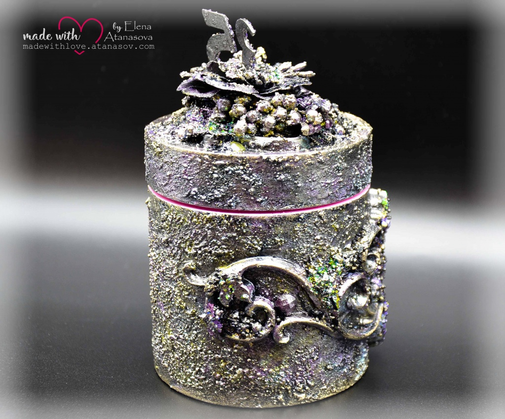 Mixed Media Jewelry Box Happy 35 3