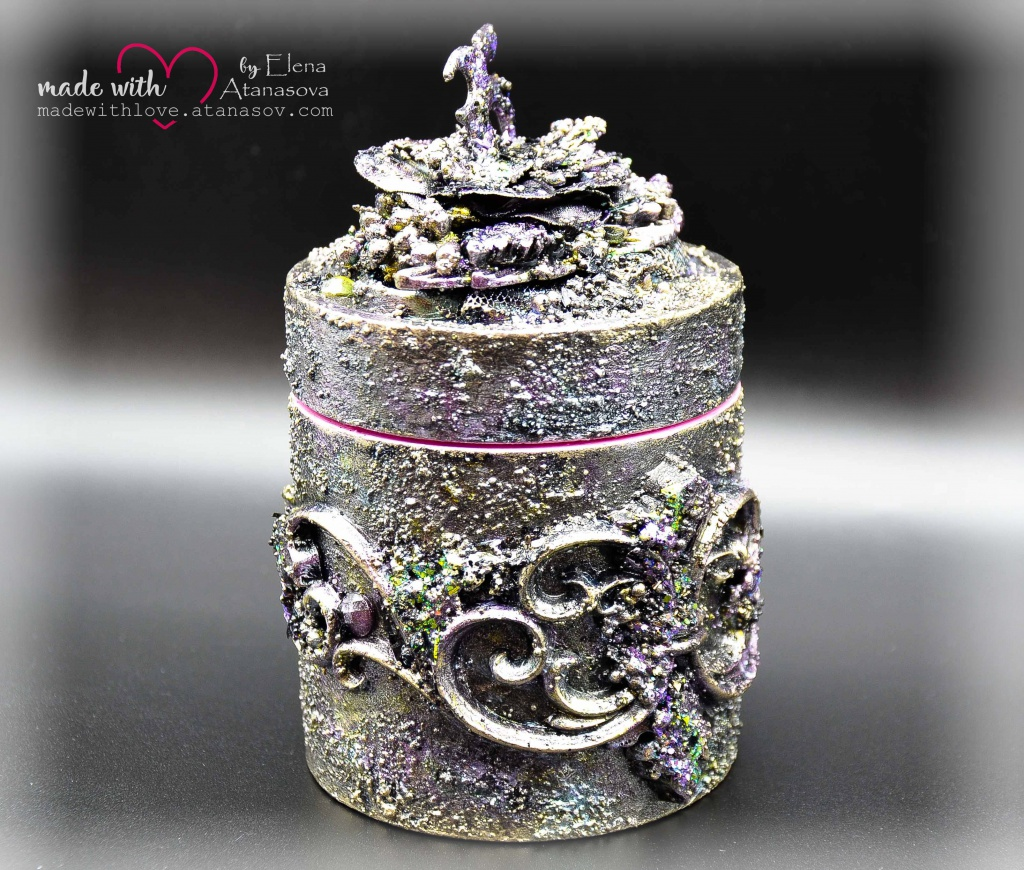 Mixed Media Jewelry Box Happy 35 4