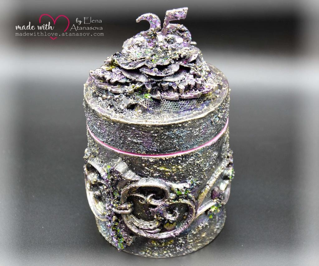 Mixed Media Jewelry Box Happy 35 5
